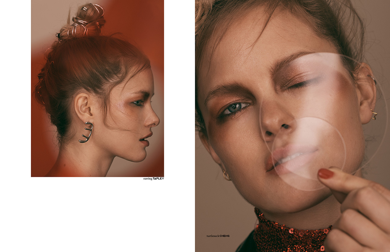 This PIBE online exclusive has been produced by:  Photography / Mary Fix Styling / Heather Newberger Make up / Michael Chua using MAC Cosmetics Hair / Alina Friesen Model / Hannah Holman @Heroes Models