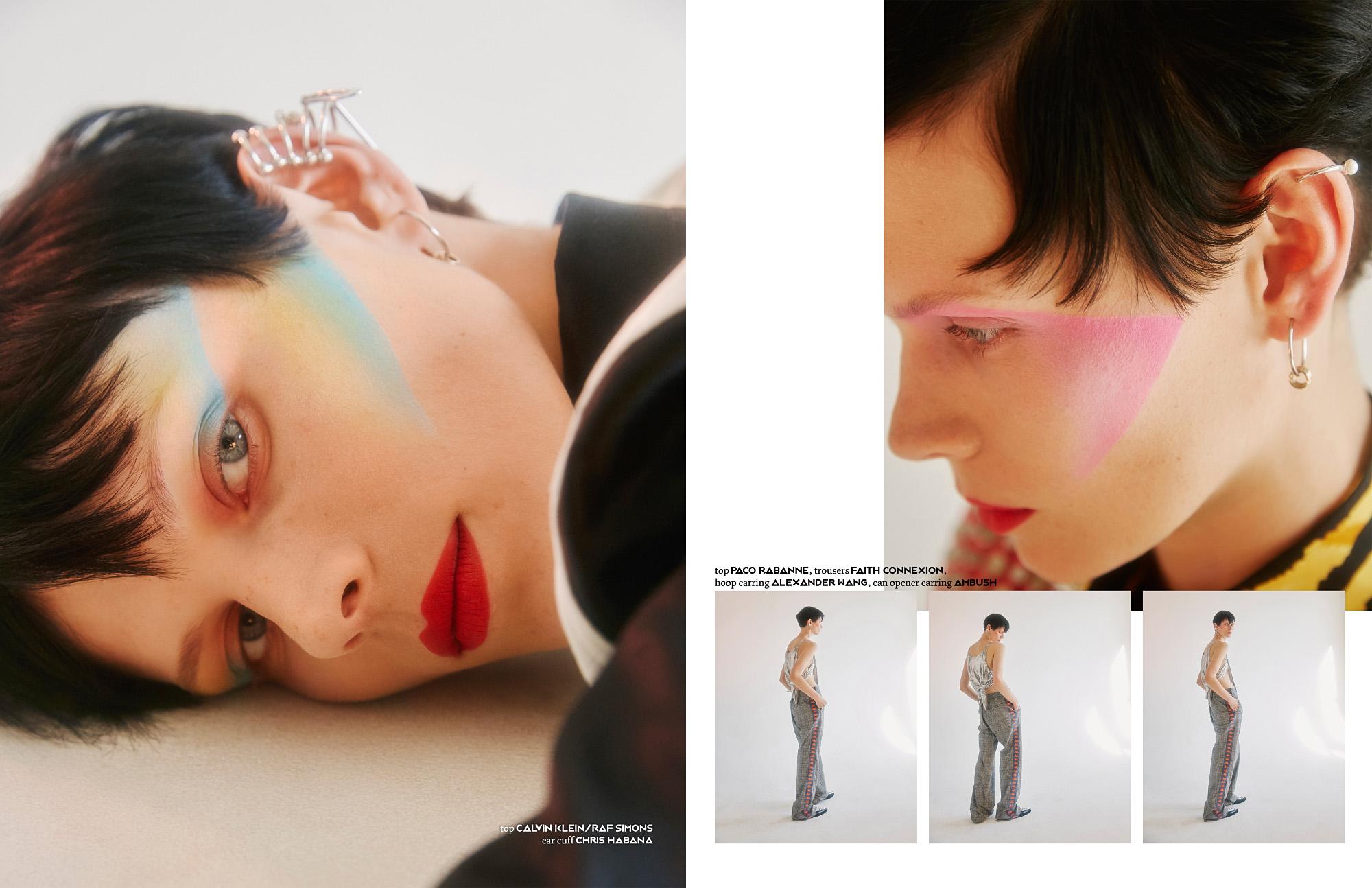 This PIBE online exclusive has been produced by:  Photography / Ruo Bing Li Styling / Krisana Sotelo Make up / Chiao Li Hsu Hair / Takayoshi Tsukisawa Model / Indre Aleksium @Silent Models NY