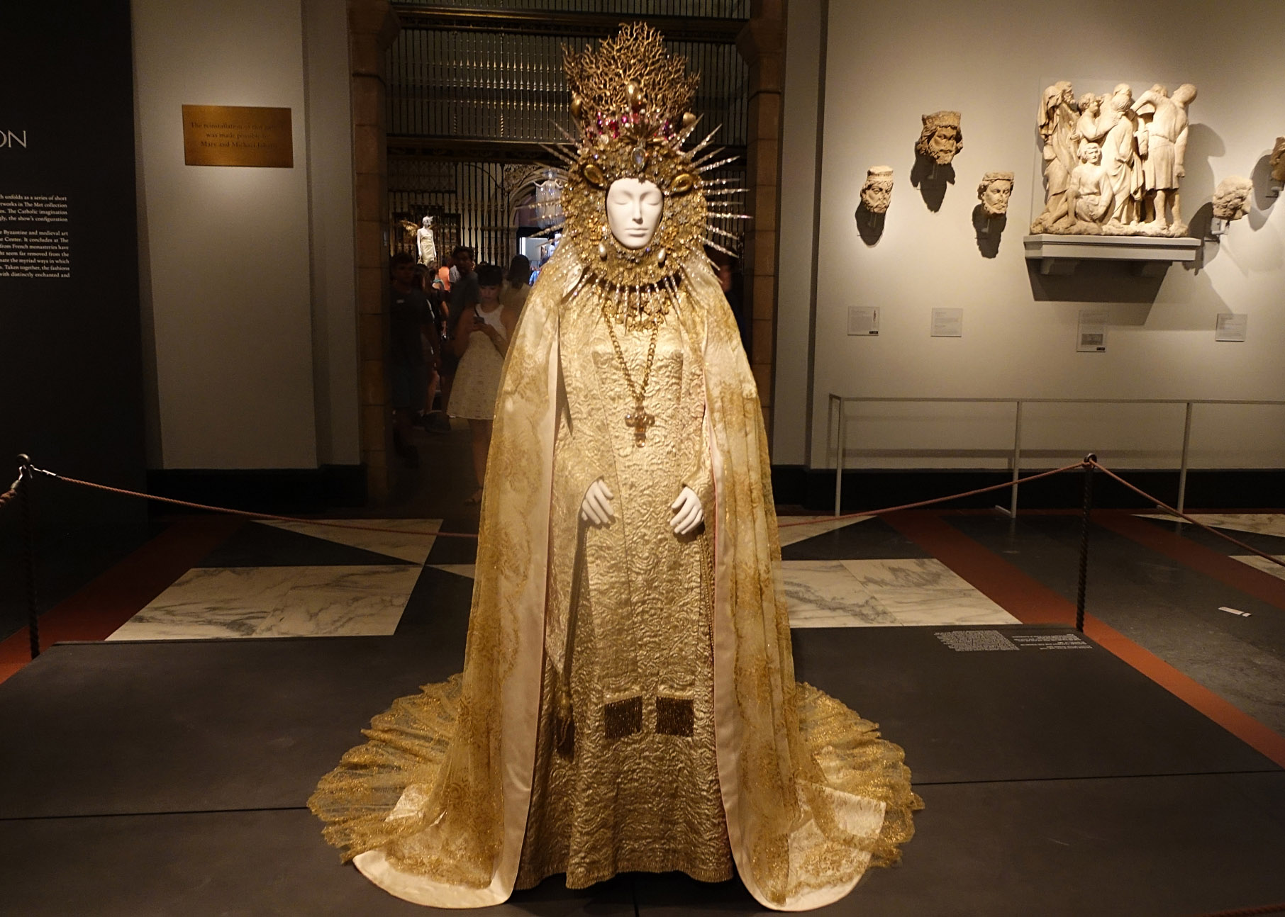 Yves Saint Laurent Statuary Vestment for the Virgin of El Rocio 1985