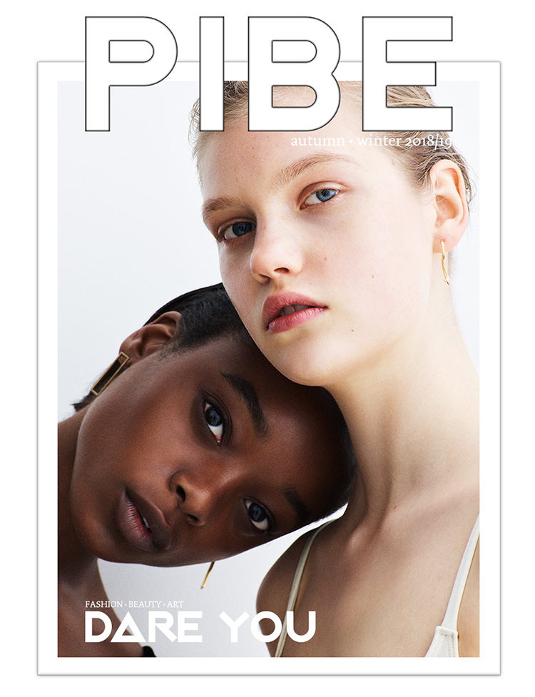 ON THE COVER Photography / Simon Emmett Models / Olivia Anakwe & Viktoria Gerasimova    BUY PIBE AW2018/19 PRINT ISSUE 7: £10.00      BUY PIBE AW2018/19 DIGITAL ISSUE 7: £4.50