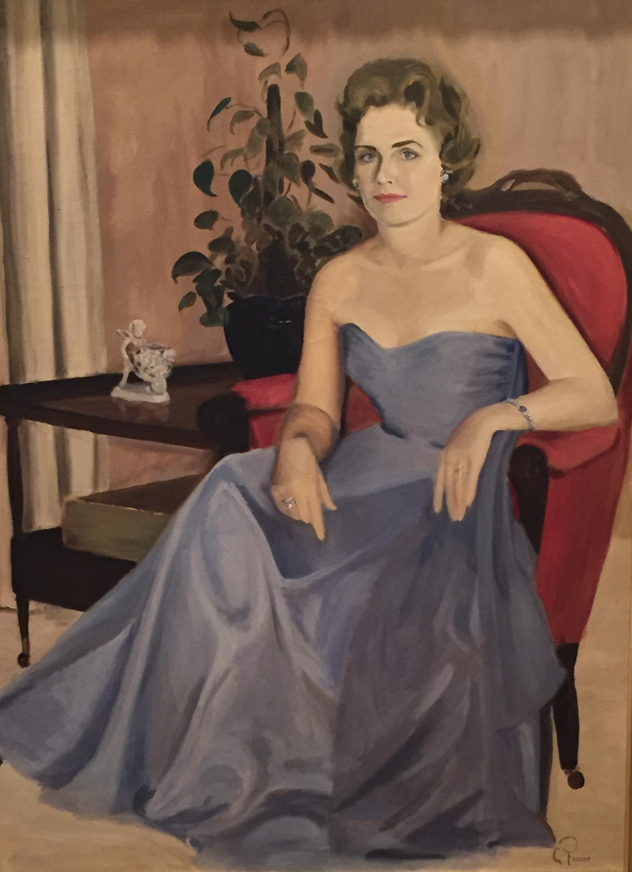 A self portrait of my maternal grandmother.