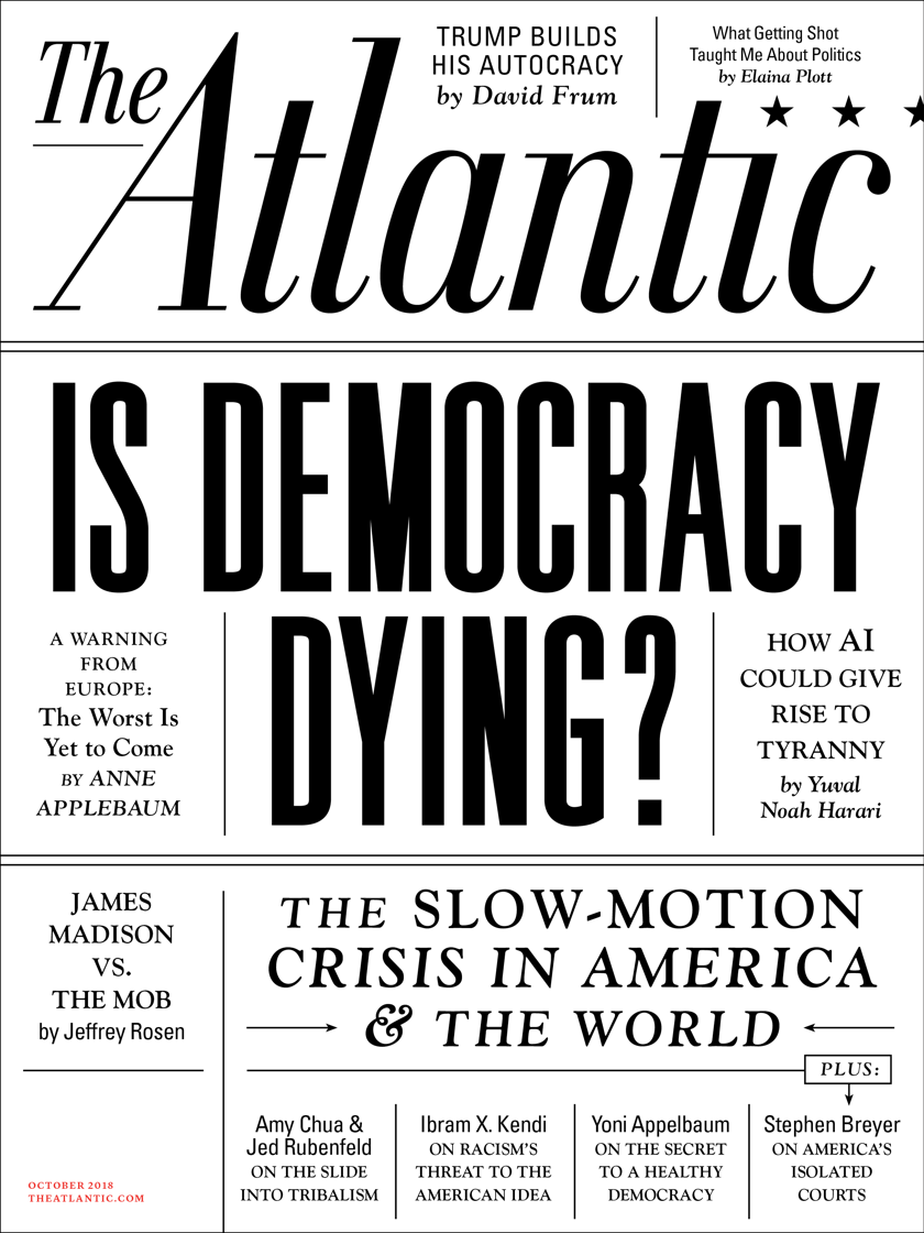 Cover of  The Atlantic's  October 2018 issue.