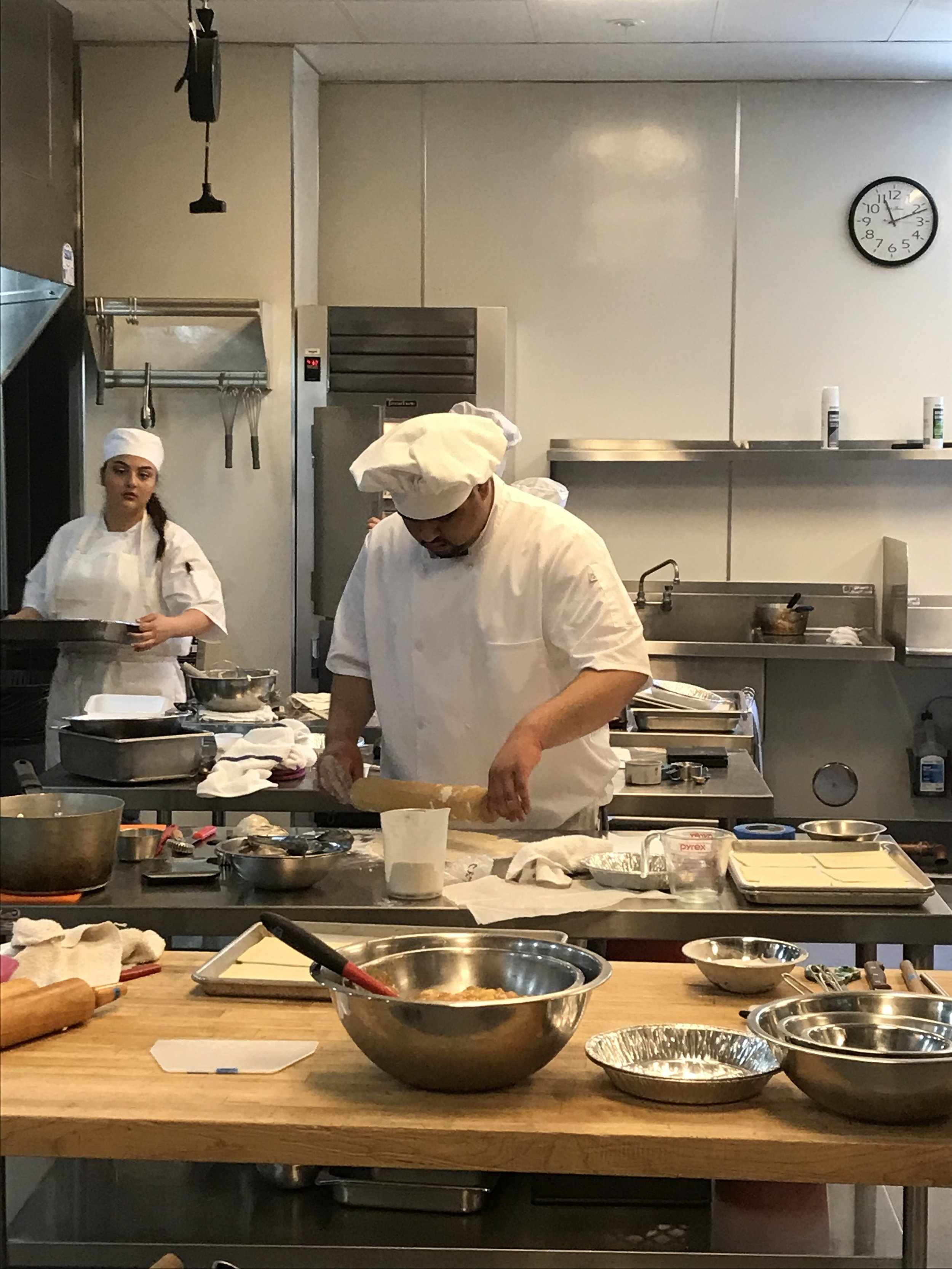 Working on his dough, Ebert digs deep and relies on the skills he practiced to complete his dishes. While the kitchen was hectic that day, Ebert managed to keep his cool to finish and finish well.