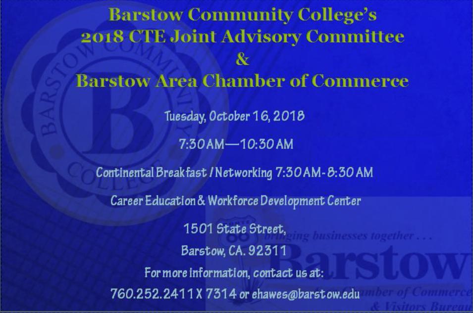 Barstow Community College Advisory Flier