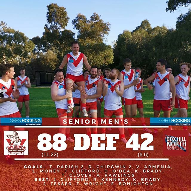 Score Recap || Round 2 vs Box Hill North  In case you missed it, our seniors and reserves both had good wins against Box Hill North.  This week we play South Mornington away.
