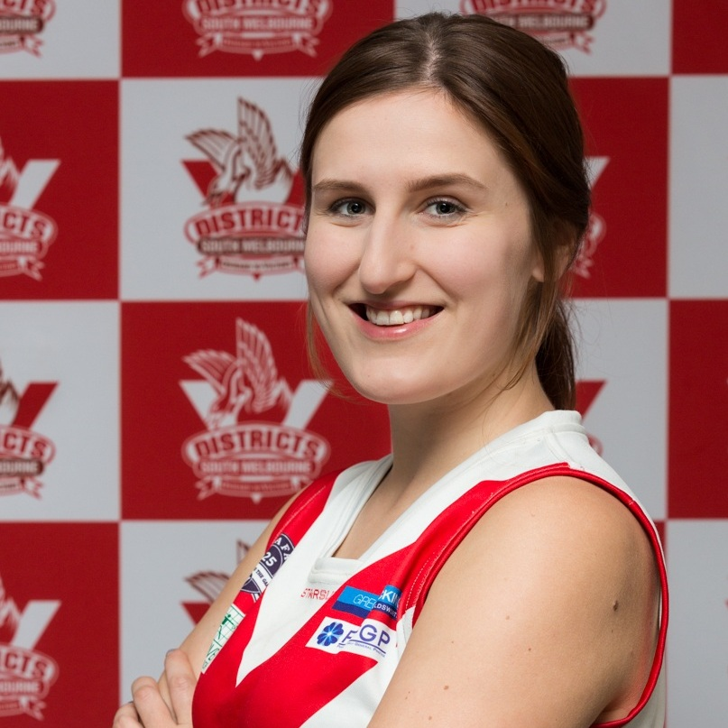 """Annika  Annika is playing half back this year and wearing jumper #56. She says """"I've always loved it, but never been able to play because of the lack of women's teams. The positive and supportive vibe of the club has kept me coming back each week.""""- What better advert do we need for the Bloods? Annika has finally finished studying to be a lawyer and is making her mark in the world, don't we do well with useful careers at SMDFC? Despite not being a Brit Annika cannot live with a decent cup of tea it seems!"""