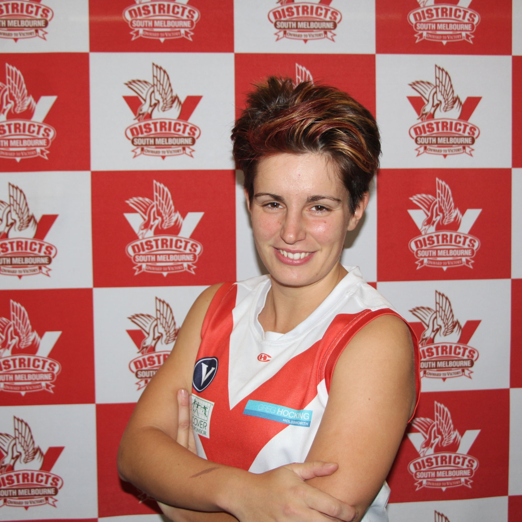 Paula A  This season we welcome our Spanish Senorita Paula to the team. She comes to us from sunny Cairns where she began her footy career. Whilst curiosity may have killed the cat it luckily drove Paula to try out footy and fall in love before returning to Melbourne and the Bloods! She has been part of the successful senior's team of 2019 wearing the #80 jumper.