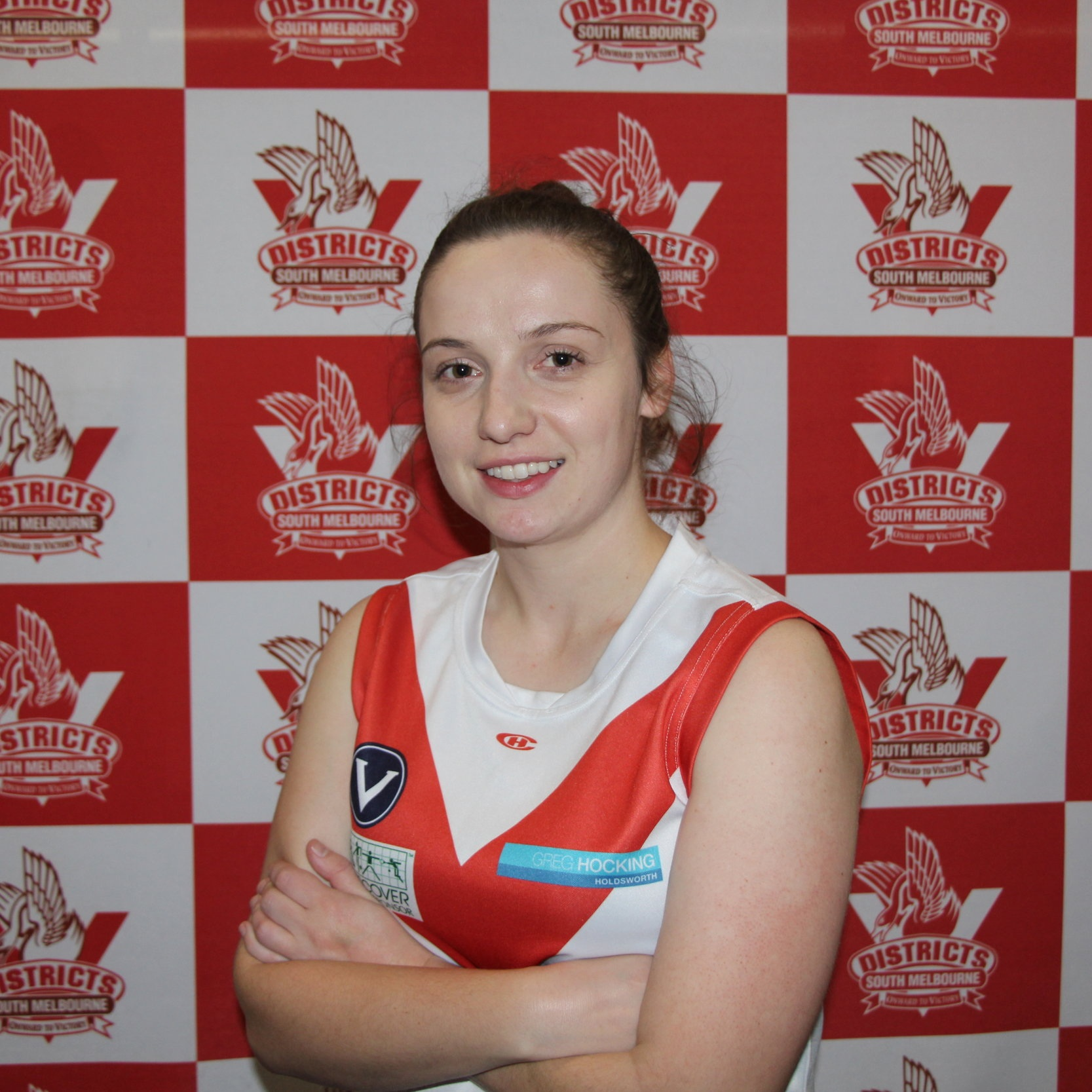 Bree  Bree is one of our newest players with just 30 days at the time of writing! After making her debut Bree has smashed her footy career into being and a broken thumb won't hold her back from being in the 2020 team! Bree's Friday night sounds like one we should all join with- movies, ice cream and the 'can't live without' Milo! Bree clearly fits our Bloods team with a shared love for Lady Gaga with Deb- attending a mere 13 shows makes her a super fan! One of Bree's off the field hobbies is making viral memes so watch this space for any 'best on social' mishaps over the season!