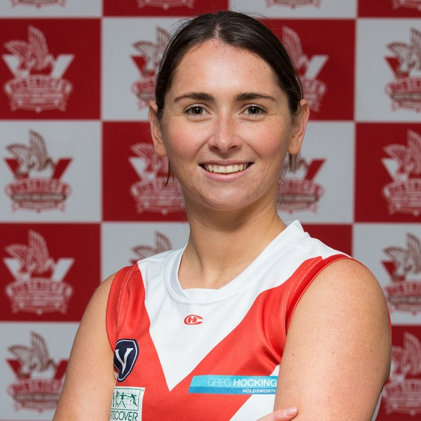 Sarah-Rose  2019's #75 is sported by Sarah-Rose and she has concreted her position on the field in the ruck, on the ball and in the centre. Outside footy you'll find Sarah-Rose in a boat coaching rowing- she's not adverse to getting wet and in the thick of it!