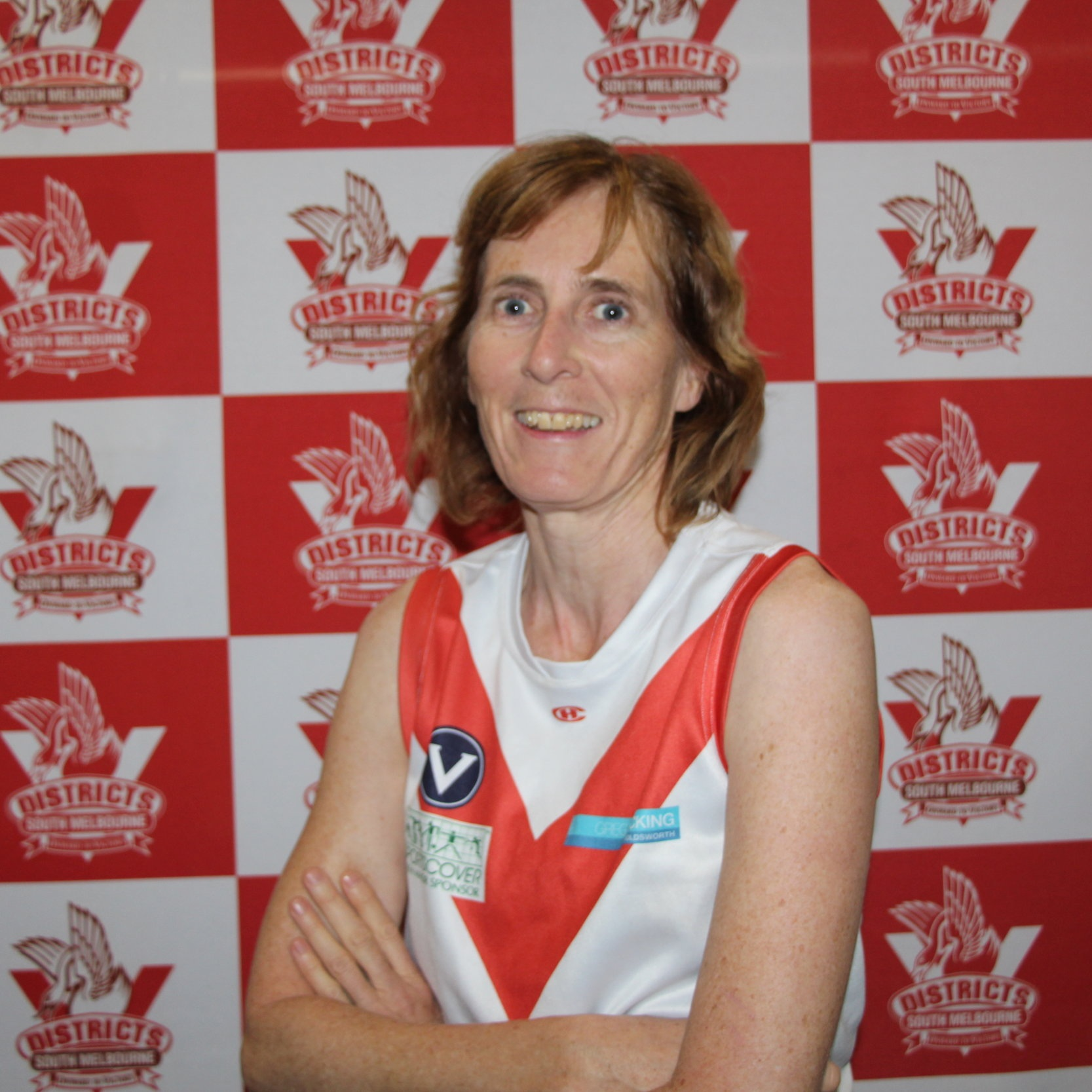 """Cate  Cate has taken up footy for 2019 as, in her words, """"I can now that girls can play!"""" Cate has played many sports in the past and wanted to add footy to that list- she has not only learnt to play since joining the SMDFC academy but Cate has taken on the role of the Reserves Team Manager- thank you Cate! Away from footy and goal tracking Cate enjoys a home cooked meal with her friends (maybe she can cook us a Thursday dinner- please?) as well as bike riding and skiing up in the snowy hills of Victoria."""
