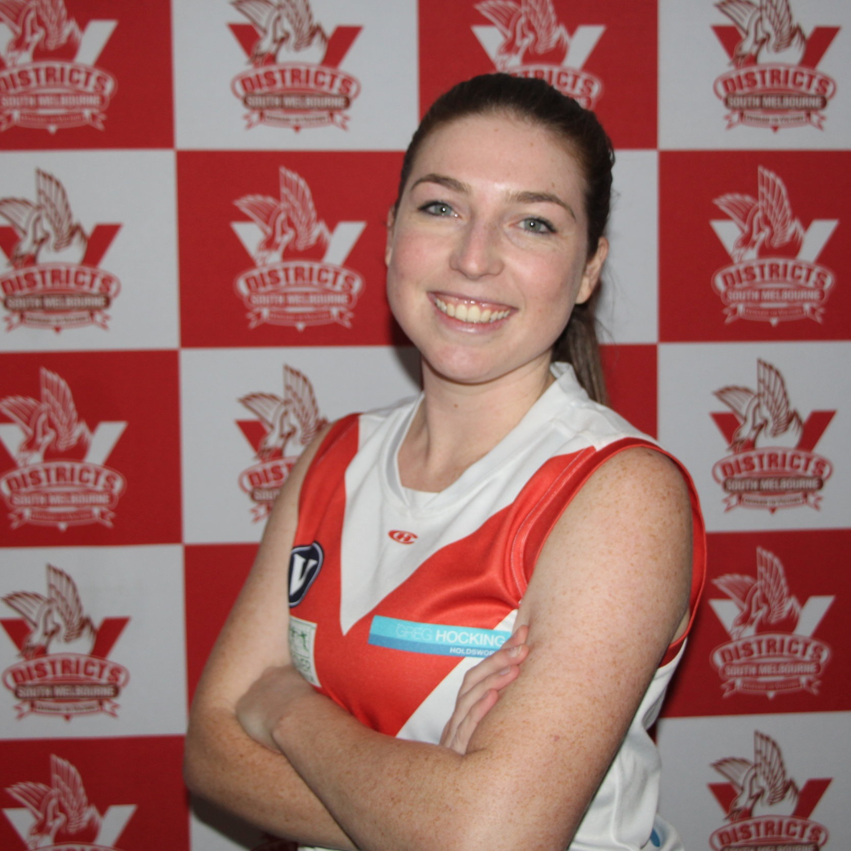 Darcy  2019's #72 is Darcy. She joins us from the sticks (Geelong…) and wanted to find a club that would let her meet people her own age and exercise too- SMDGFC definitely has that covered. When she isn't wearing the red and white you'll find Darcy living up her Friday nights watching Collingwood win from a bar in Richmond- well maybe this is the dream? Darcy says that at South Melbourne she was welcomed by the culture, the commitment and sense of community-We'd all agree that the team is home away from home for so many players.