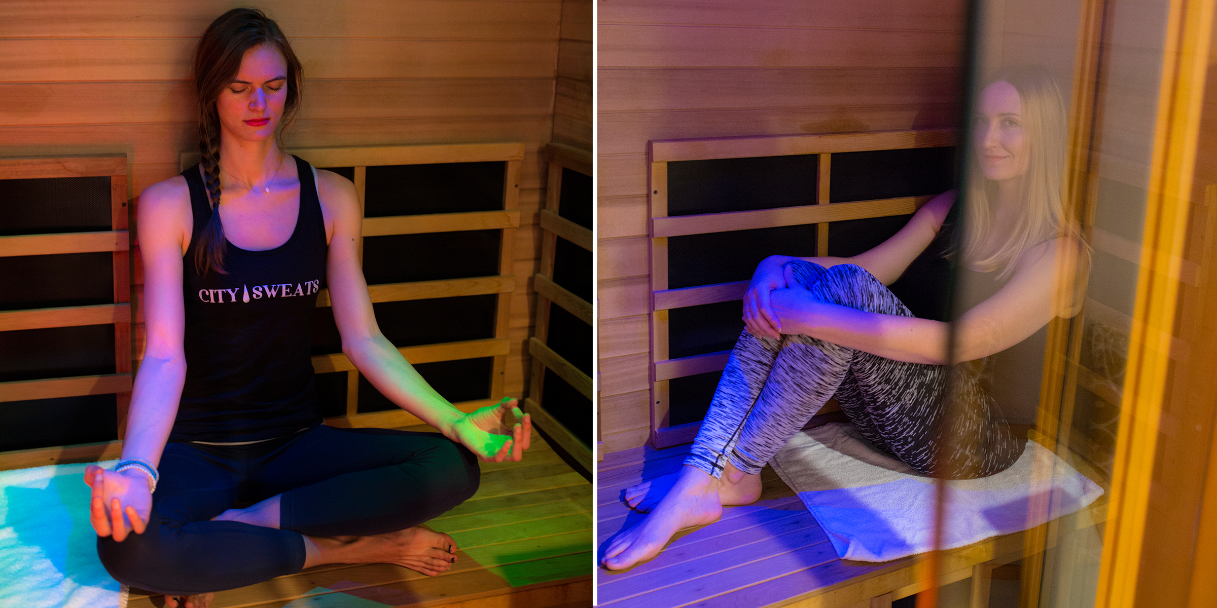 The session lasts for 45 minutes  We will take you back to the private treatment room with water. Make sure to drink plenty of water, before, during and after your sauna. The infrared sauna has the added option of color therapy, be sure to ask your hostess for details. There is a shower available to use afterwards with clean towels provided. When you're finished with your session, we invite you to spend at least 10 minutes in our relaxation room. .
