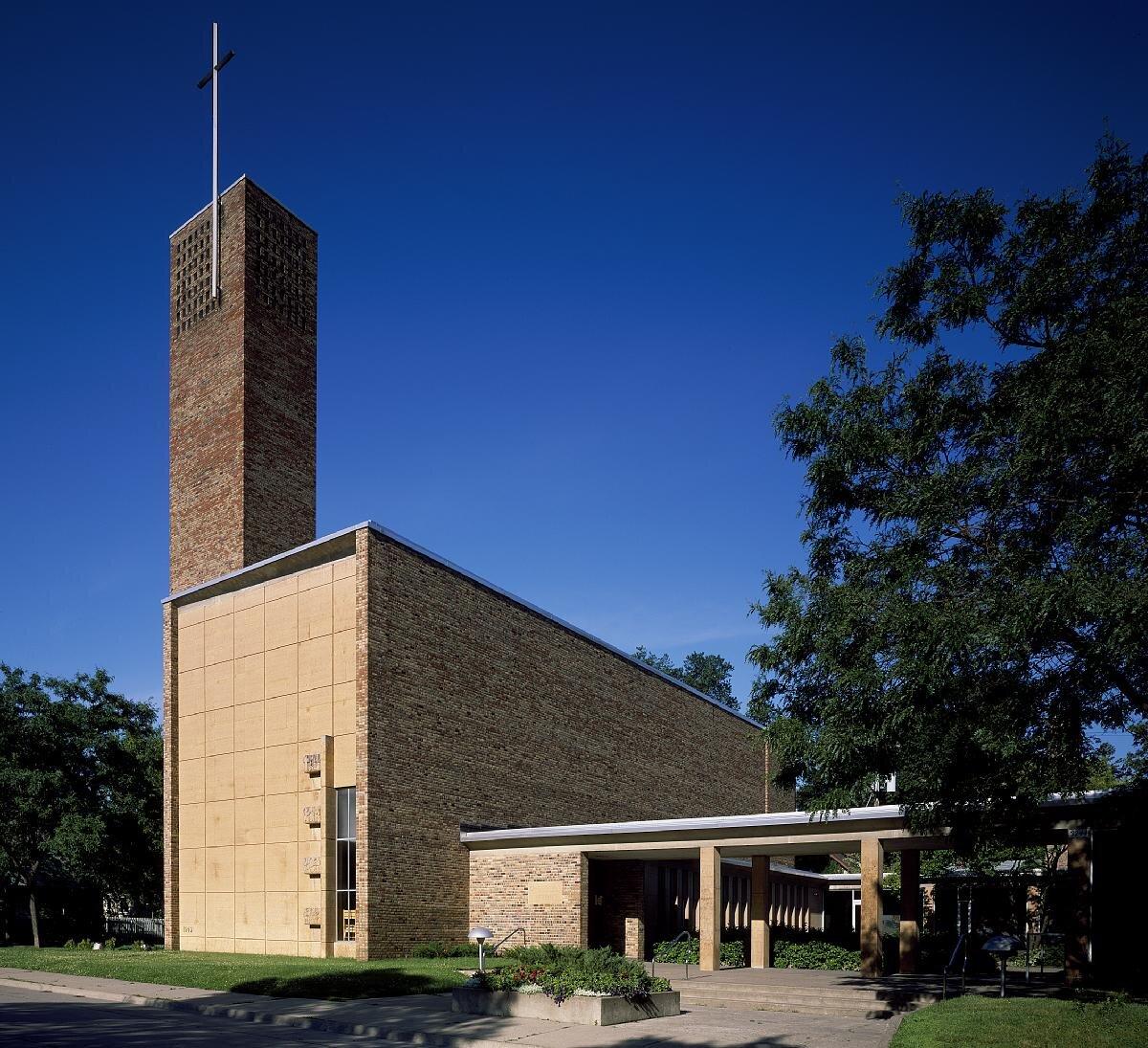 Eliel Saarinent's iconic mid-century Christ Lutheran Church in Minneapolis, Minnesota