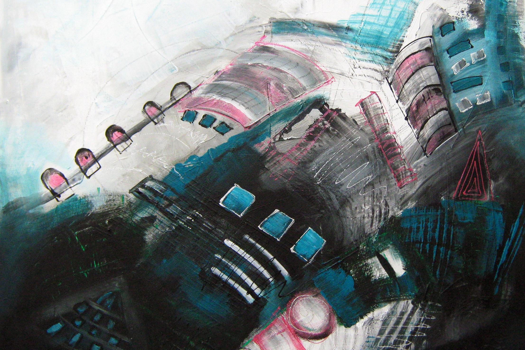 farbe - Abstrakte Acrylbilder, Mischtechniken und gegenständliche Aquarelle