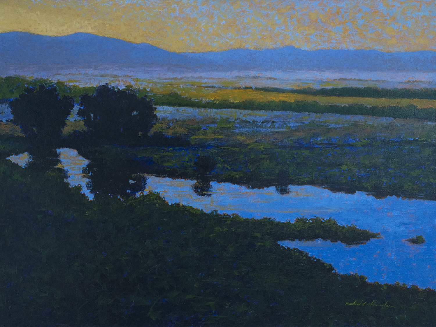 Silver Creek V, oil on canvas, 42 x 56 inches, $8500.00. Shipping to be determined.