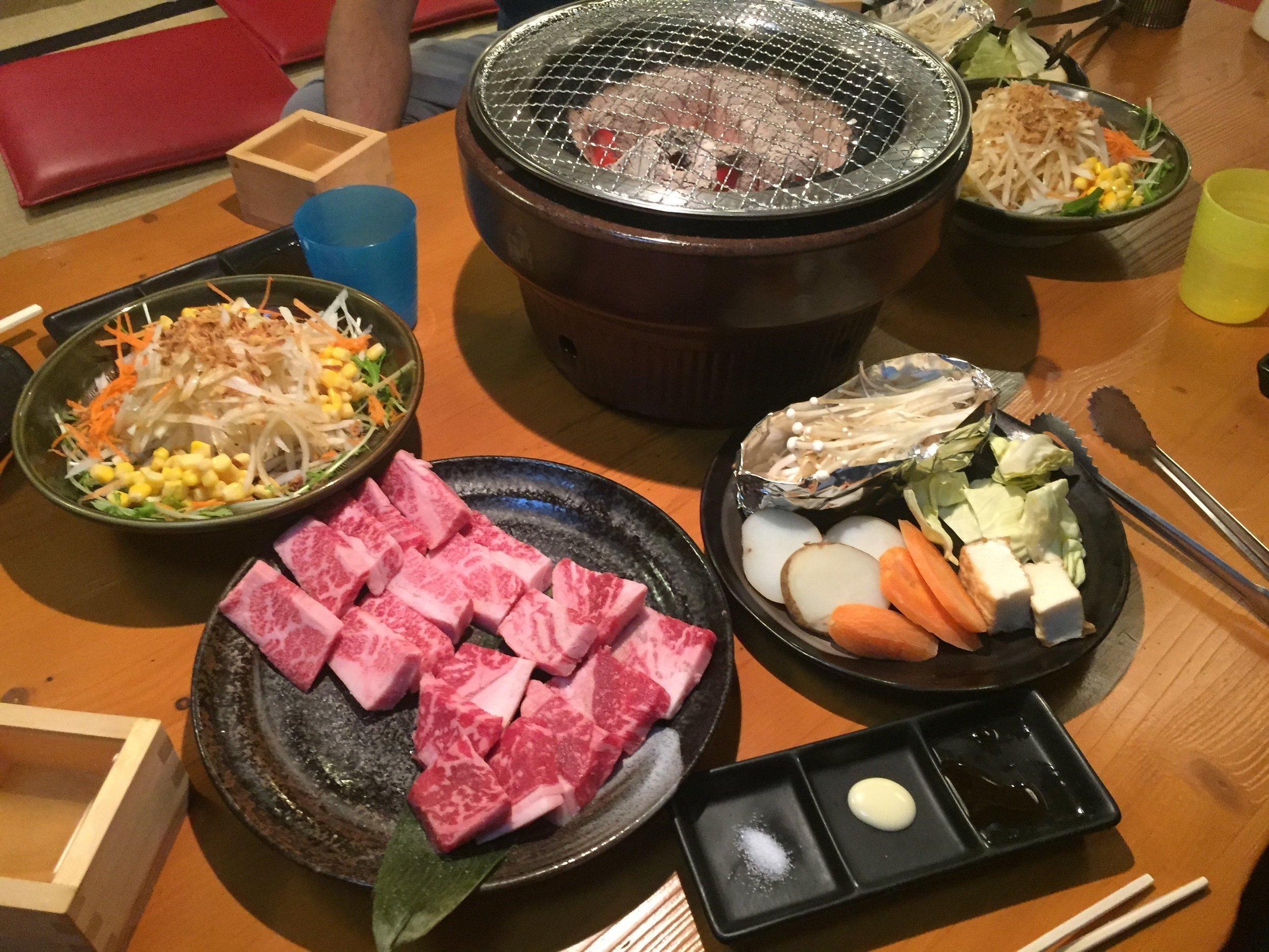 Deluxe Wagyu Beef Set at Marukame Korean Barbeque Restaurant