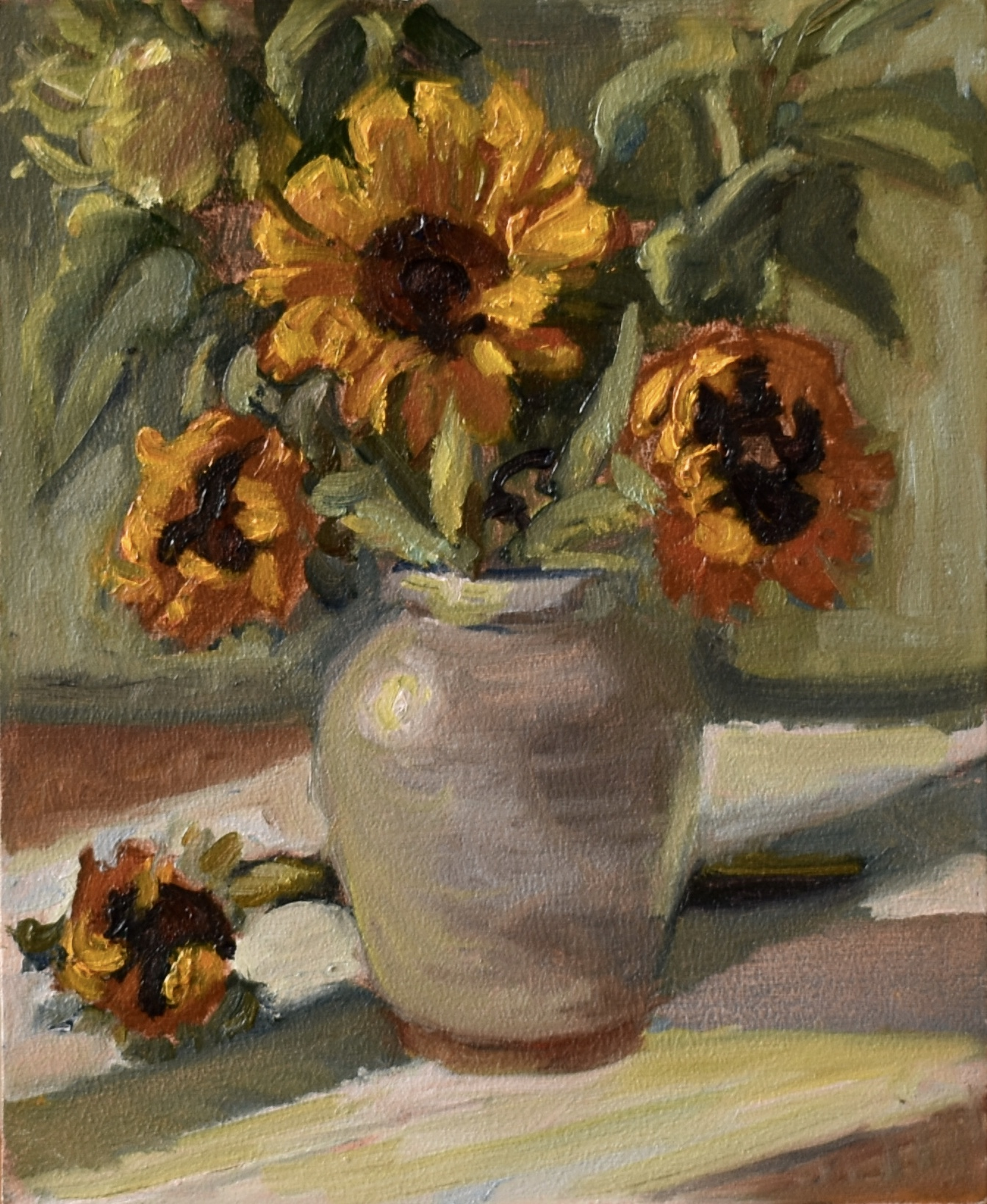 Trio of Sunflowers.