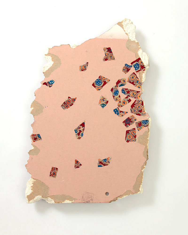 Wall no. 17,  2013. Oil on plaster wall 42.5 x 27 cm