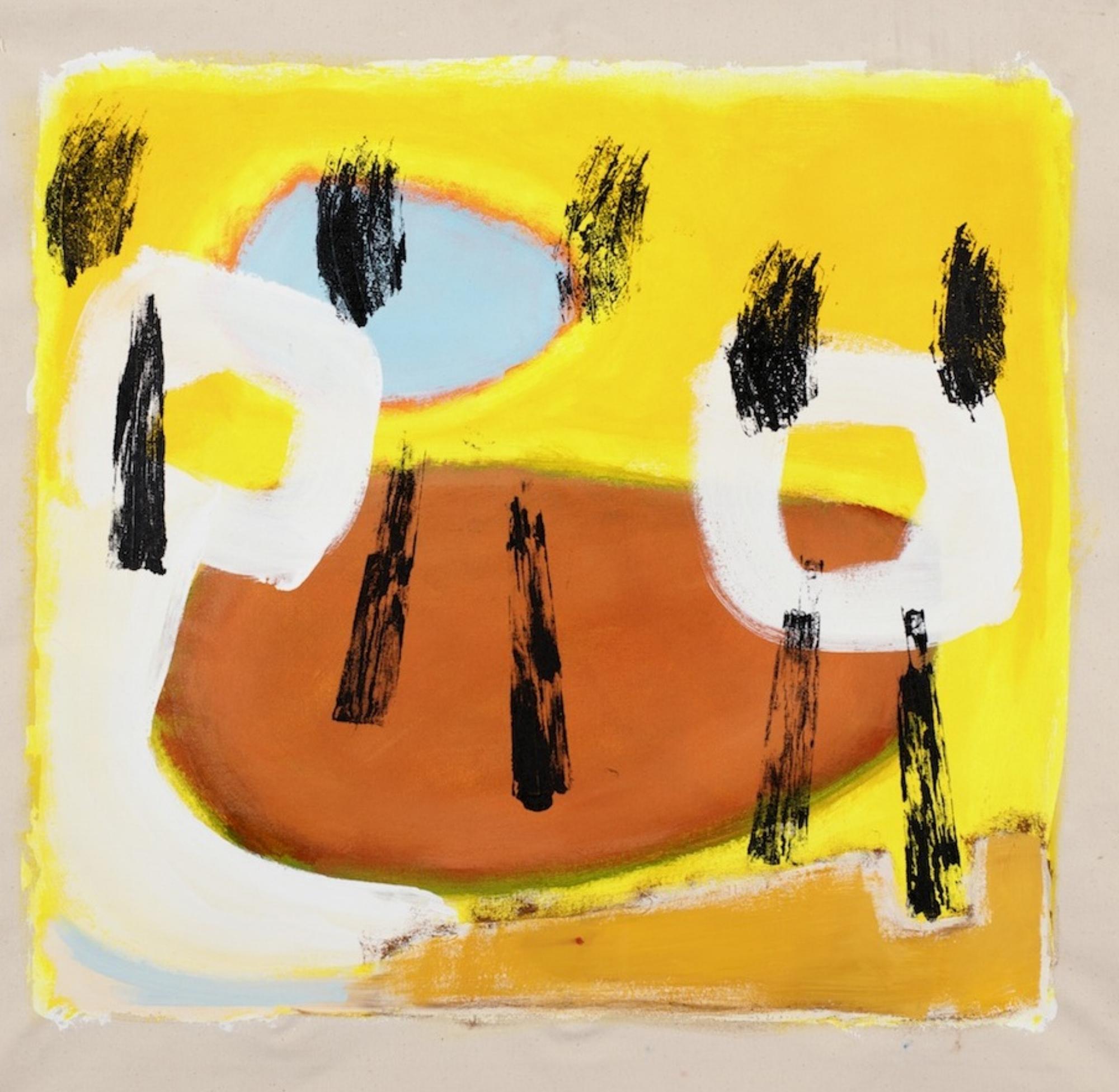 Shony Rivnay, Yellow and Rhythm, Acryic on Canvas, 65x65 cm, 2016 .jpg