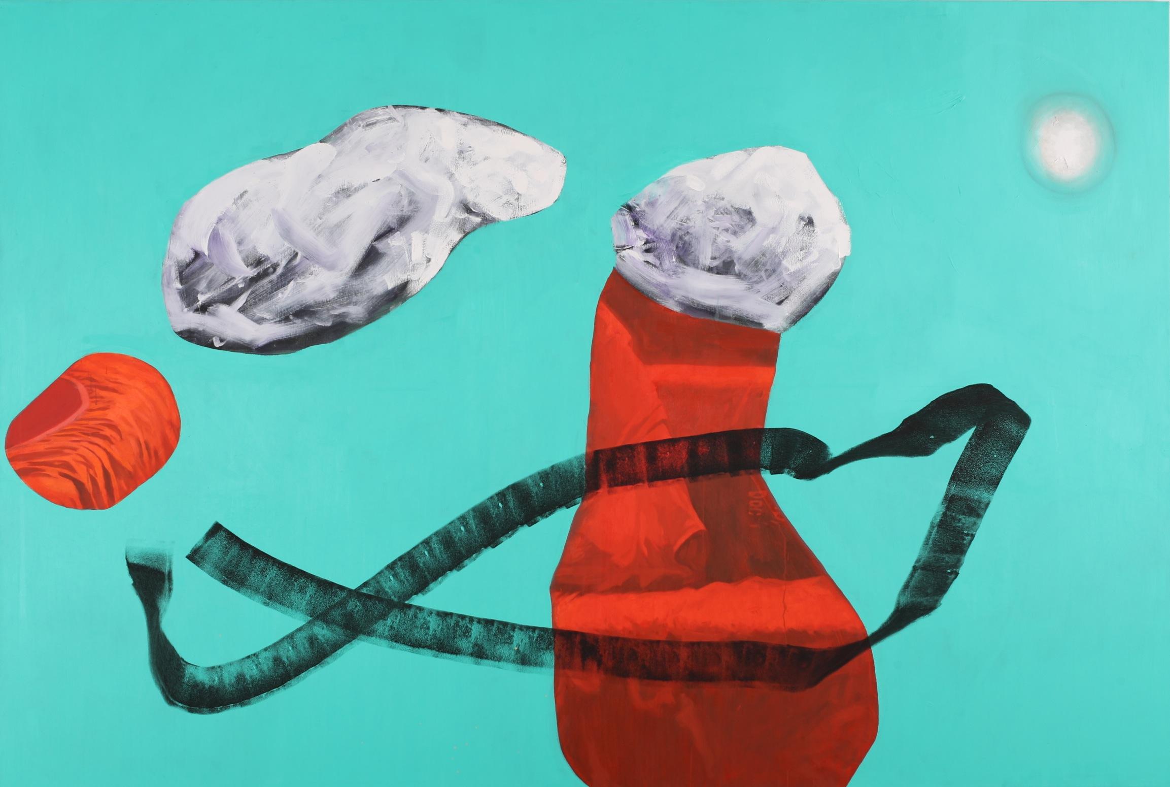 Composition 5987,  2018, Oil on canvas, 260 x 174 cm