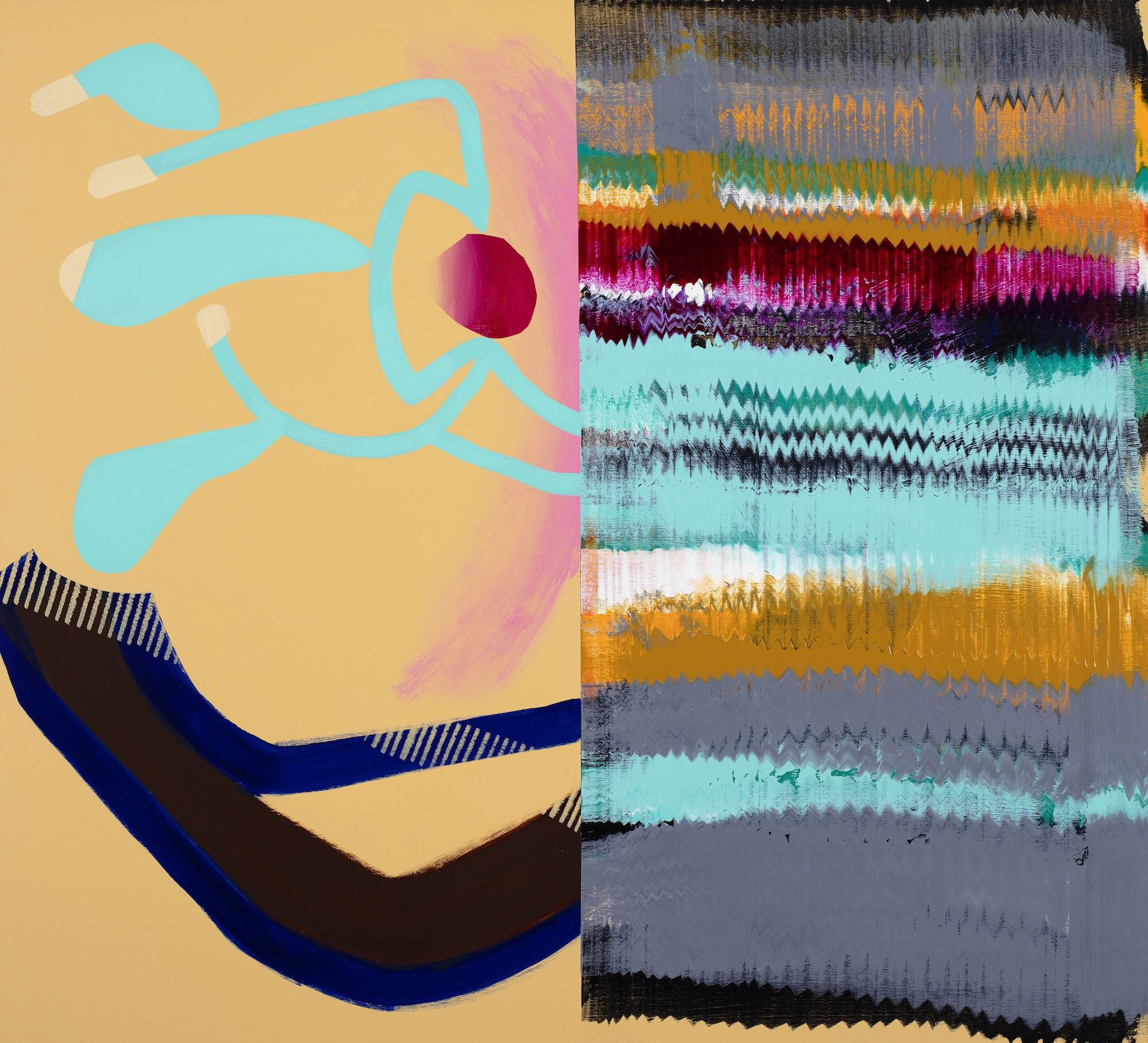 Composition 7701,  2017, Acrylic on canvas, 100 x 110 cm
