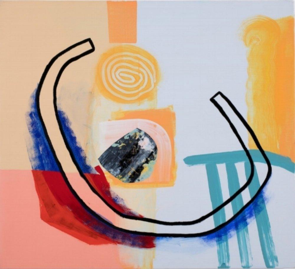 Composition 7658 , 2017, Acrylic on canvas, 100 x 110cm