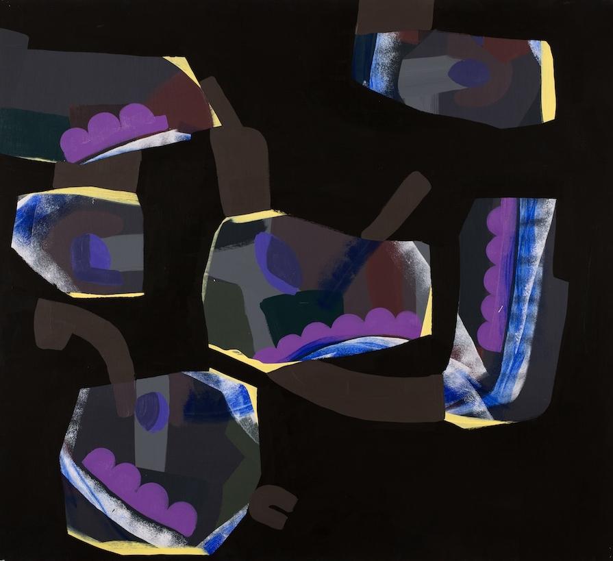 Unttiled,  2017, Acrylic on canvas, 100 x 110 cm
