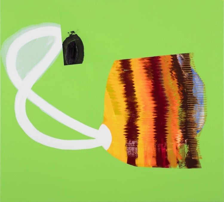 Composition 7661,2017,  Oil and acrylic on canvas, 100 x 110 cm