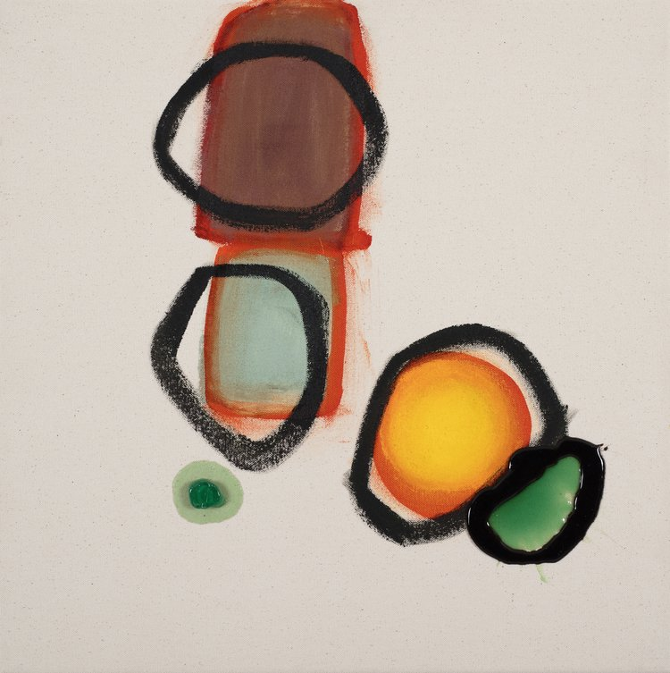 Composition 7721 , 2016, Acrylic and polyurethane on canvas, 50 x 50 cm