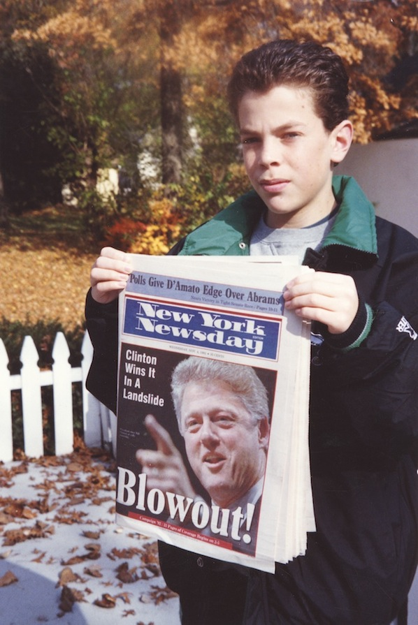 Blowout, Clinton Wins, New York Newsday, 1992 , C-Print, Sizes vary