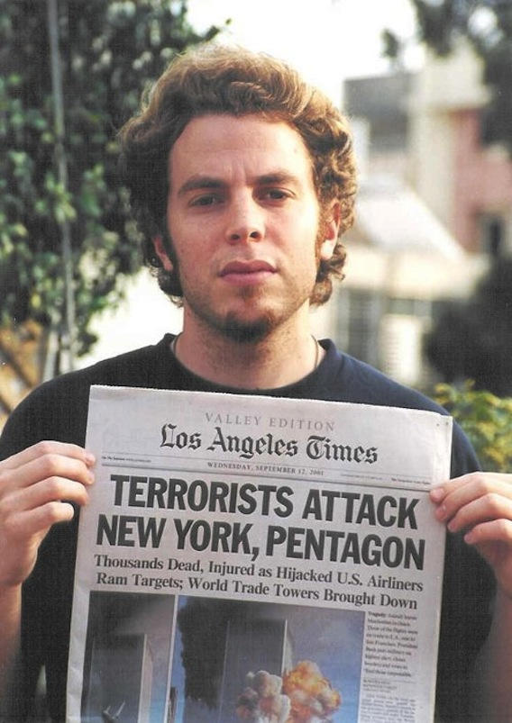 Terrorists Attack New York, Pentagon, Los Angeles Times, 2001,  C-Print, Sizes Vary