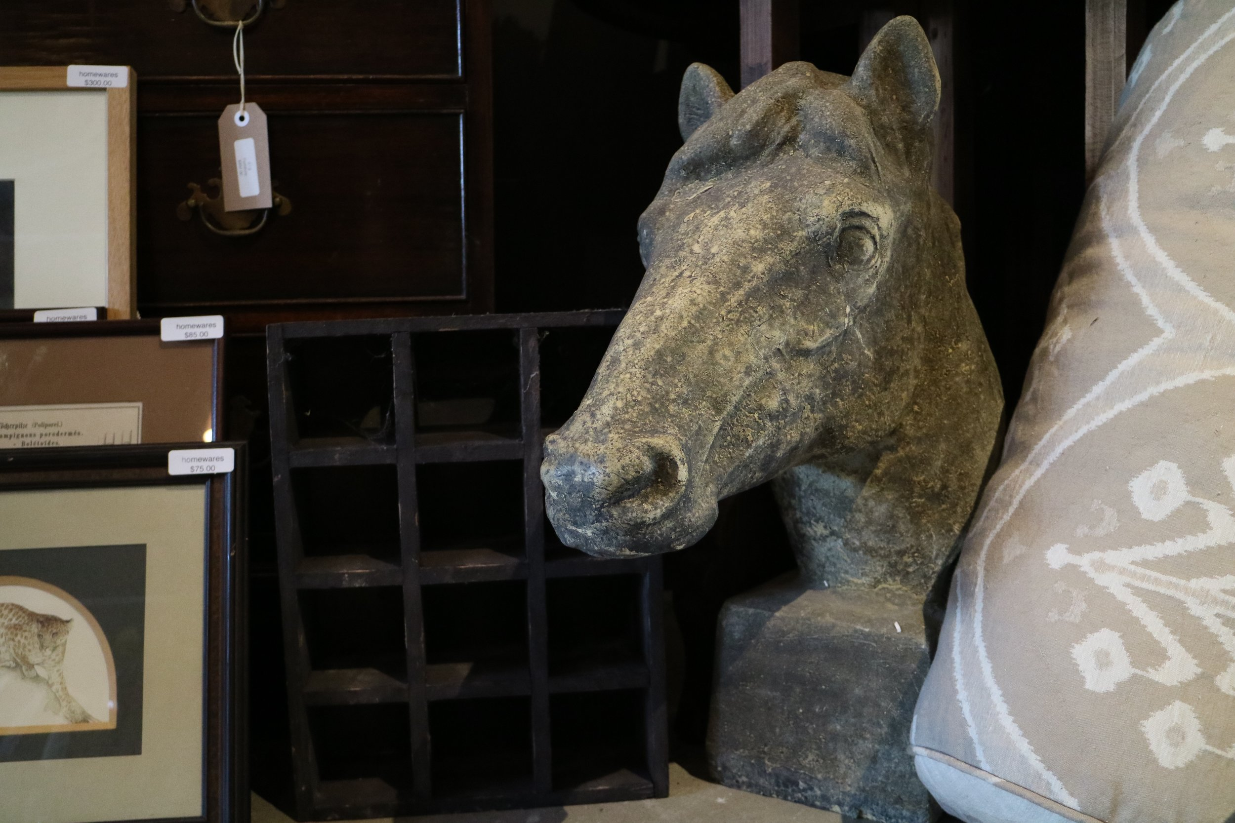 Stone Horse Bust