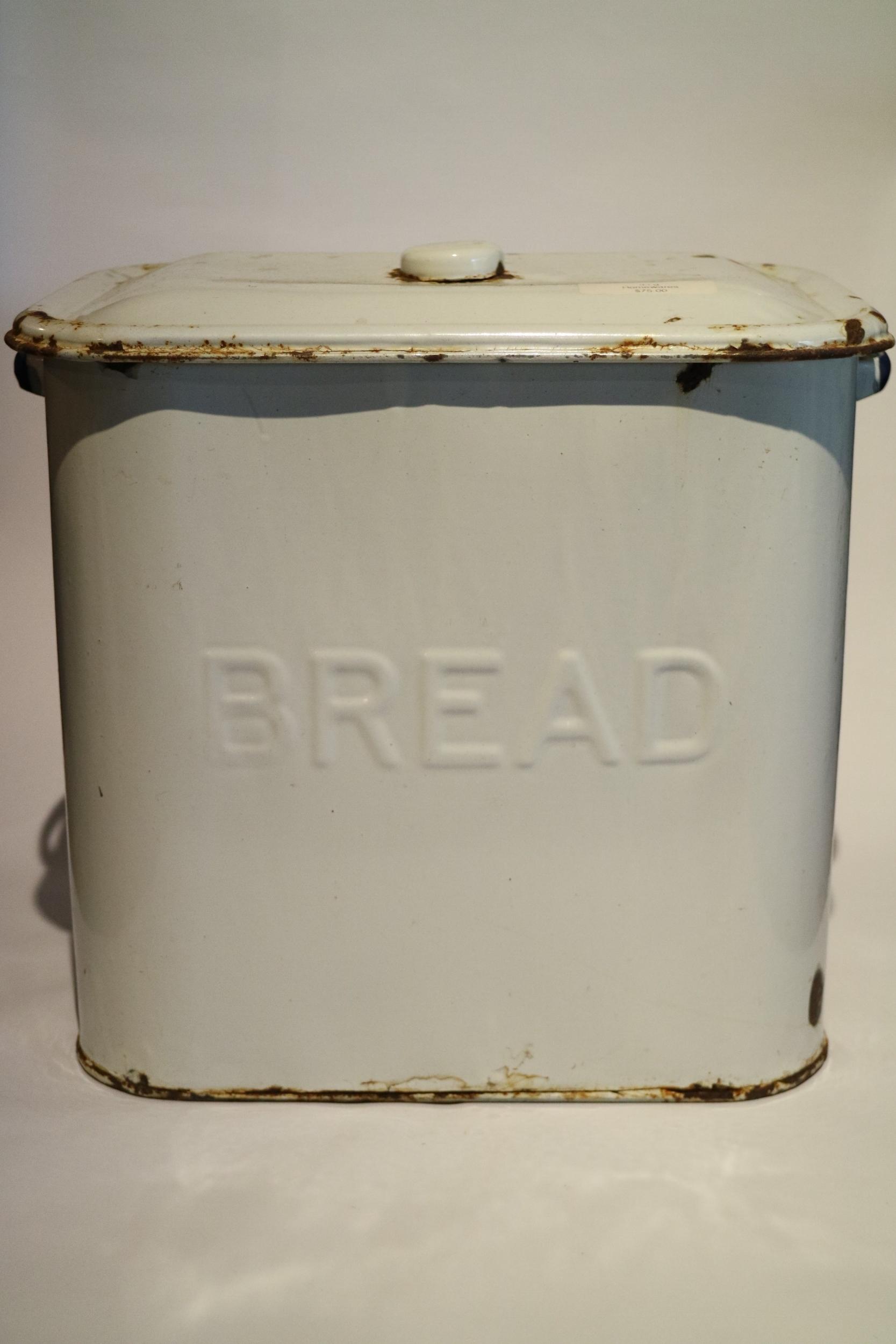 Antique Enamelled Bread Tin
