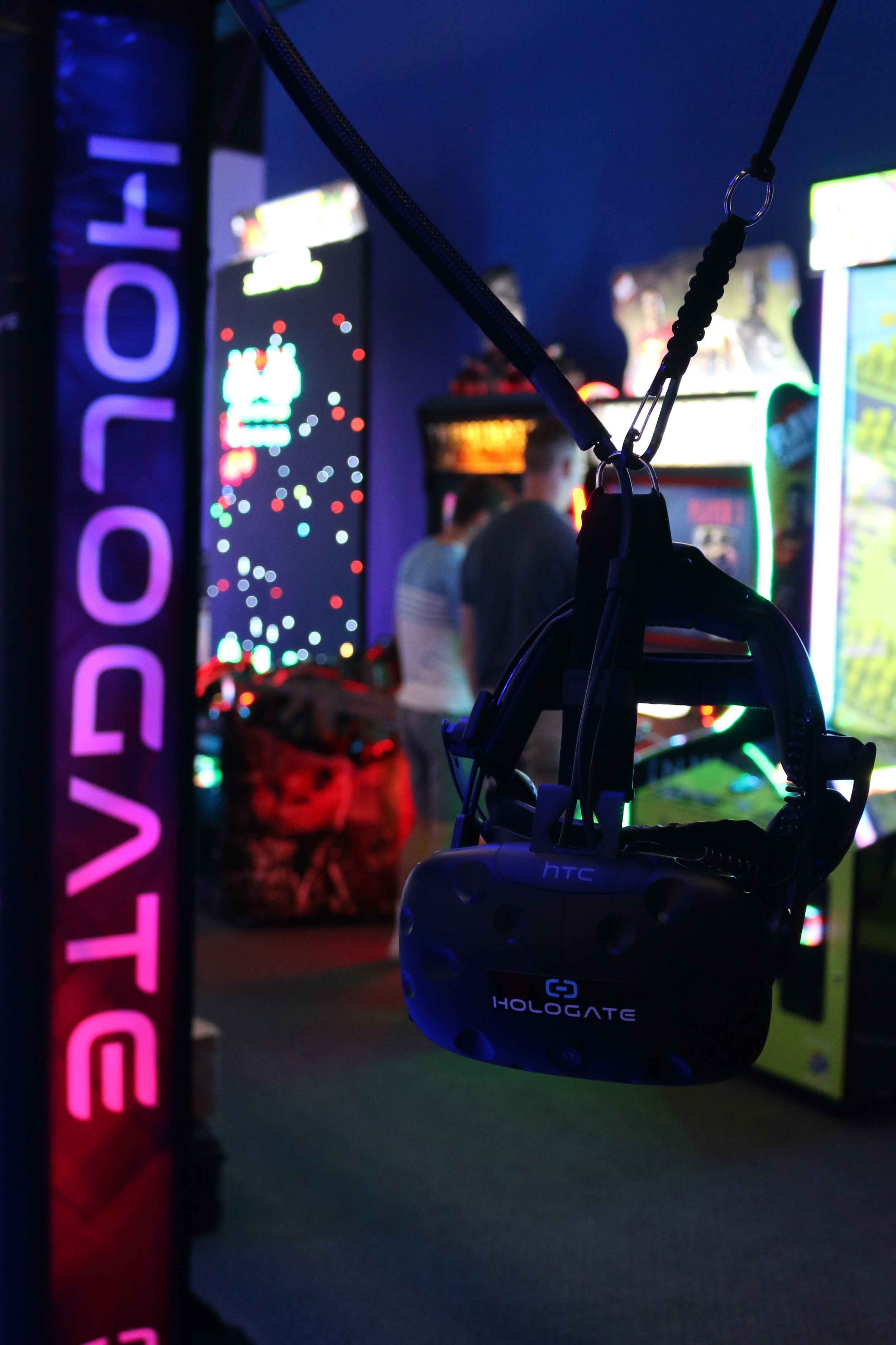 Hologate - Step into alternate reality with our 4-player competitive VR gaming system. Battle robots, slide across ice in a snowball fight, and (coming soon) fight off a horde of zombies.$5.00/game