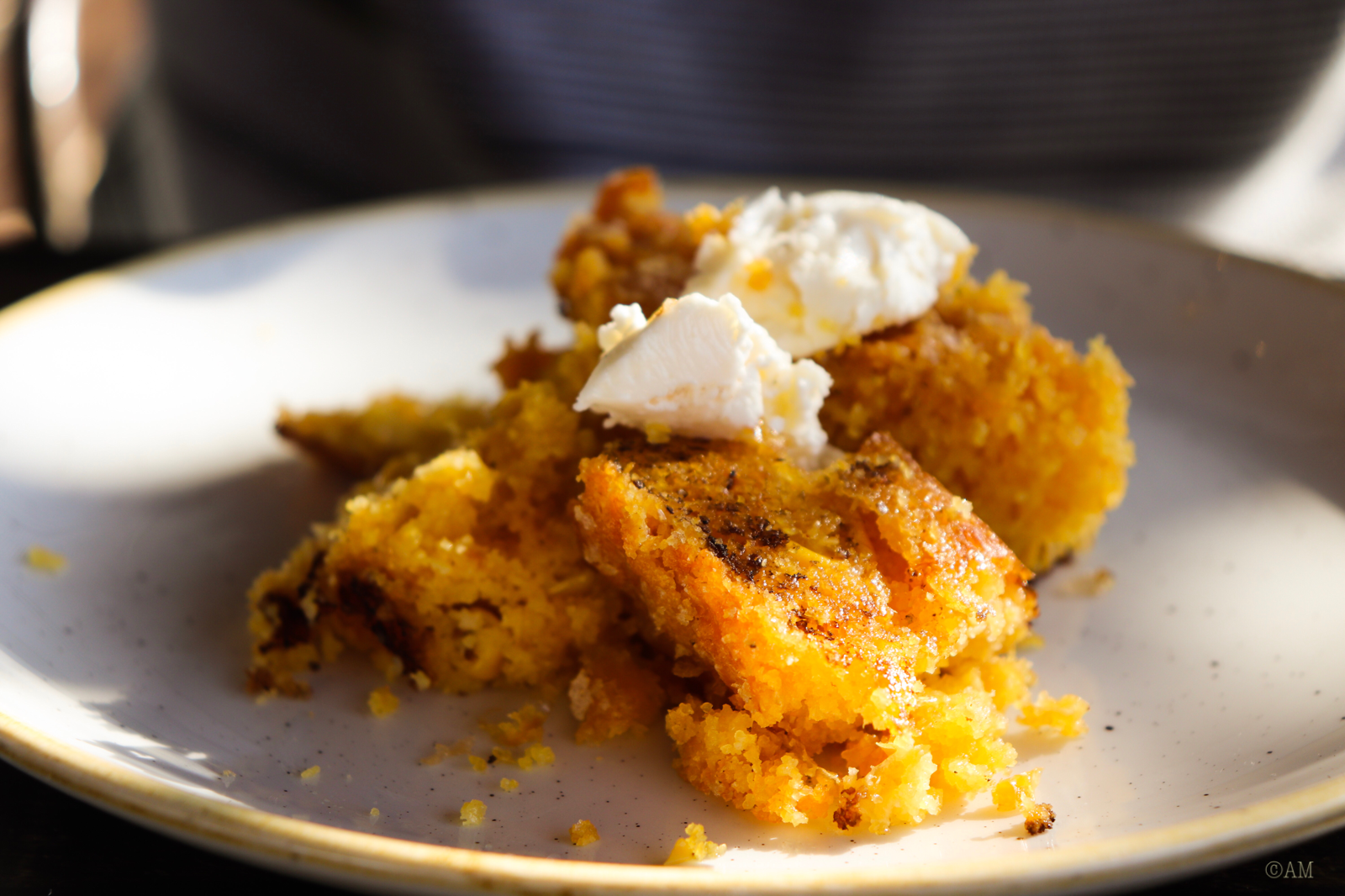 Go ahead, tell me you wouldn't devour this cornbread topped with f**king honey butter.