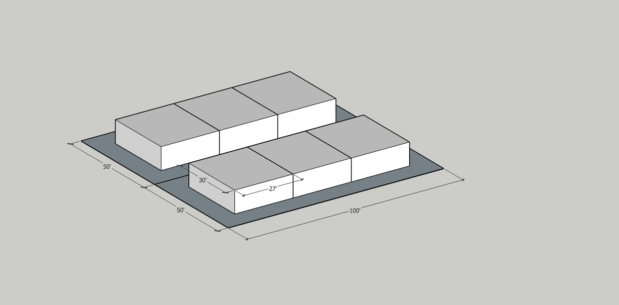 Building Data:  Neighborhood: Humboldt Year Built: 2014 Typology: Plex / One Story / Bungalow court format Units: 6 (Pair of identical triplexes on separate lots) Stories: 1 Site Area: 10,000sf Building Area: 5,040sf FAR: 0.5:1 Density: 26du/net acre                  Zoning: R2 Is it Legal? YES