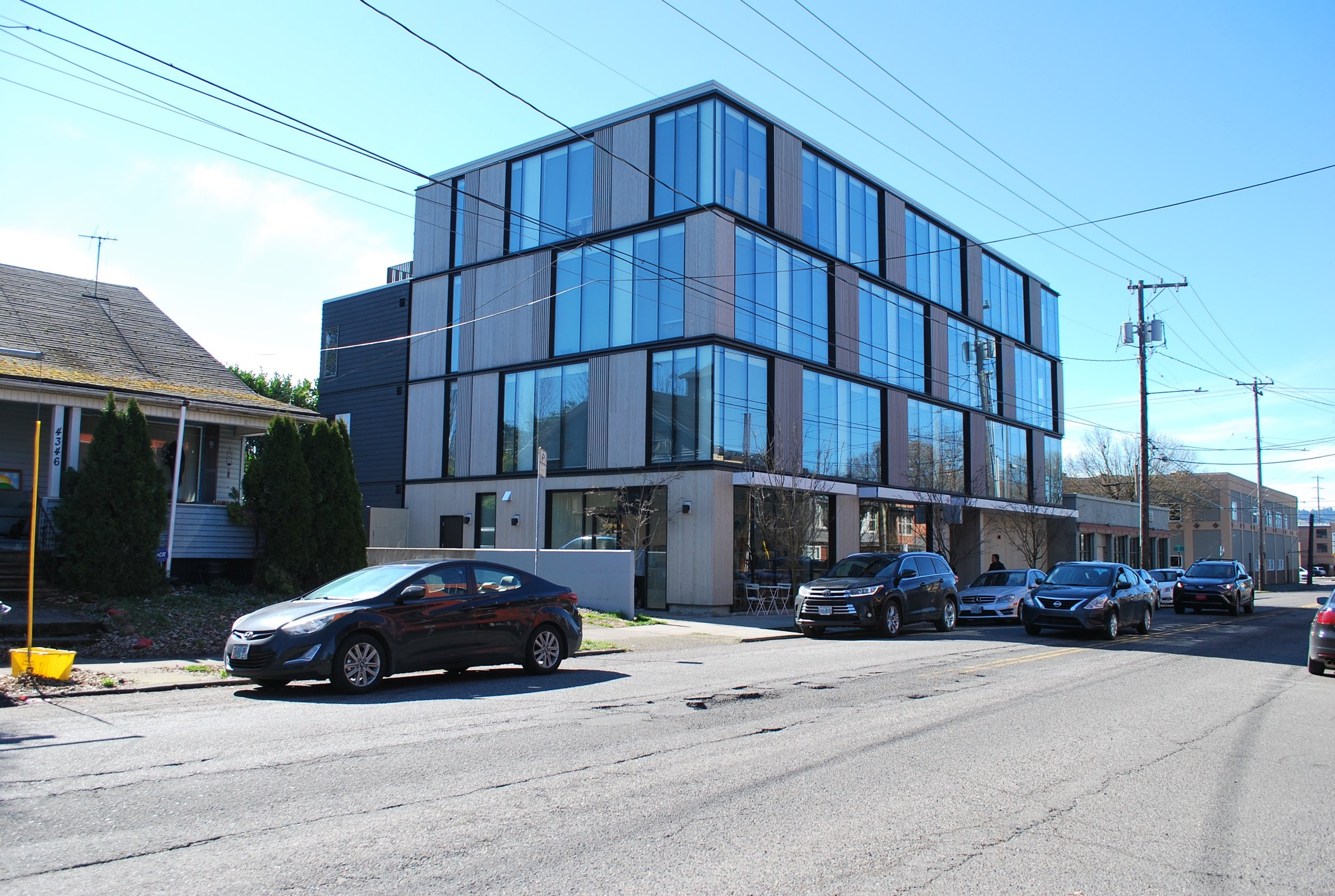 A fine contemporary building on SE Division by Works Progress Architects
