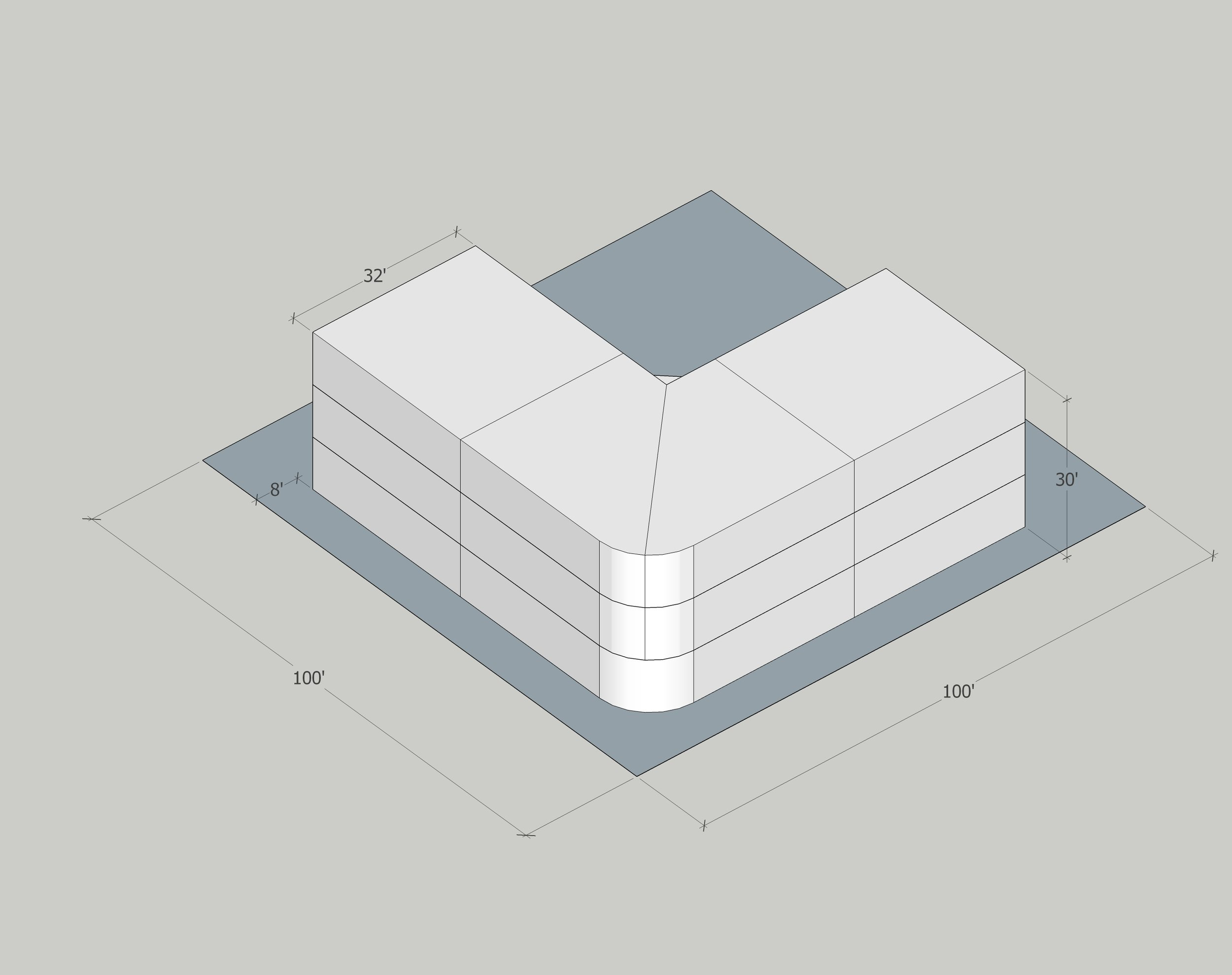 Building Data:  Neighborhood: Hosford-Abernethy Year Built: 2014 Typology: Walk-up Apartment Building Units: 12 Stories: 3 Site Area: 10,000sf Building Area: 8,825 FAR: 0.88:1 Density: 52.3 du/net acre Zoning: R2 (1 Dwelling/2000sf)Is it Legal? Apparently