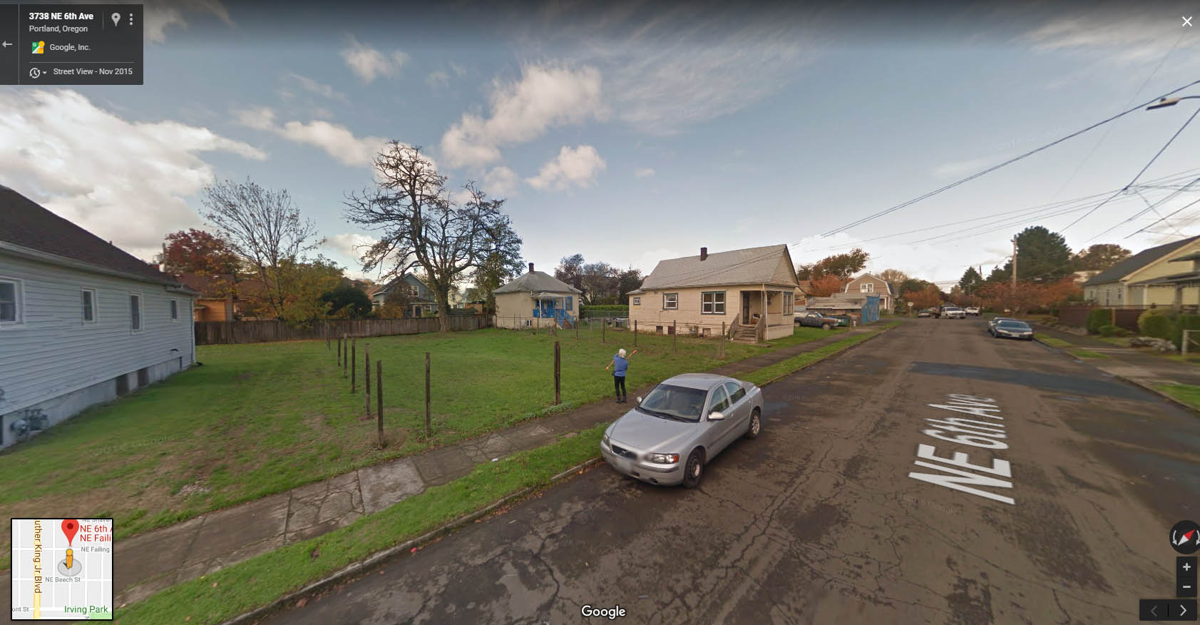 Google Street View of Site, facing NW