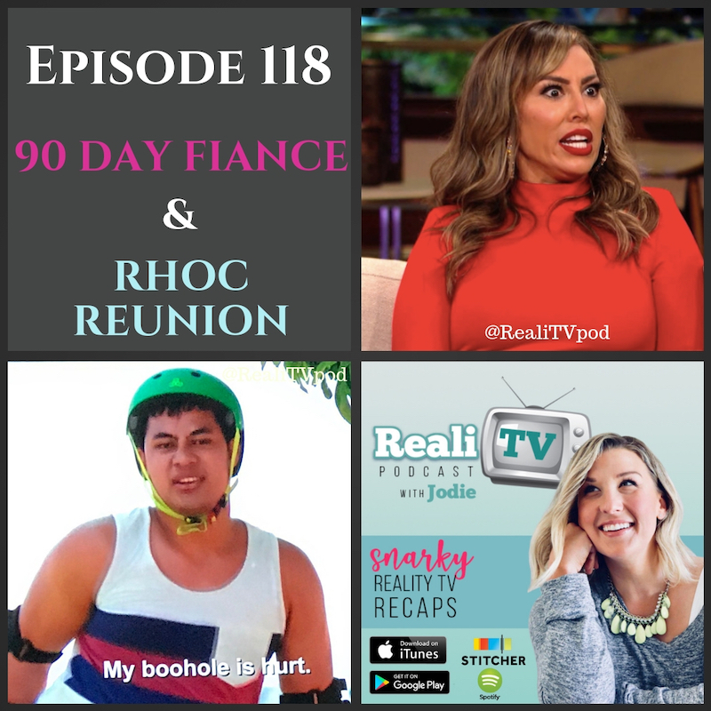 Episode 118: 90 Day Fiance & Real Housewives of Orange County Reunion Part 1 11.29.18 - 90 Day Fiance is back with some of the most authentic cringe-worthy moments we've seen. I'm looking at you, Mother Jonathan. Asuelu really knocks it out of the park with his bicycle riding, which leads me to my NEW character comparison for our lil Balki Bartakomous. You're going to love it. Because I love and adore you & because I am obsessed with Real Housewives of Orange County, I'm talking about the Reunion Part 1!!!Join Patreon now until 12/15/18 & I'll mail you a STAY SALTY keychain. It's my version of Darcey's appreciation ring for supporting RealiTV so I can keep bringing you free weekly podcasts :)Shop www.poshmark.com with referral code REALITV for $5 off your first purchase.