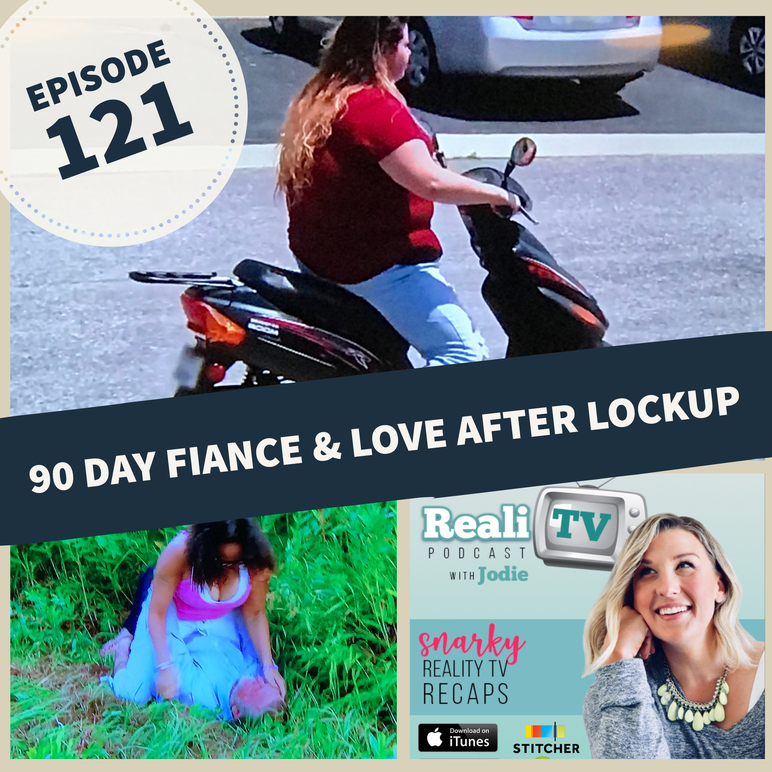 "Episode 121: 90 Day Fiance, 90 Day Live & Love After Lockup 12.20.18 - Are you ready to rage with me this week? In 90 Day Fiance news (0:00), Larissa finds Colt's ""Not for Debbie's Eyes"" videos and turns out Ashley and Jay may have kept a secret from production. Oh, and remember Ricky? Yeah, well he went back online to really seal the deal on what an asshole he is. This week's 90 Day Fiance (4:00) didn't disappoint with Natalie's mode of transportation taking the all-time prize for Best Exit Scene. Beep Beep! With plenty of talk about this season's off-screen drama, 90 Day Live (38:00) with Michelle Collins hosting had me all eyes & ears. Jesse Von Trapp was in his glory, which means he was his typical sociopath self dressed in Edgar Allen Poe's burial suit. Sorry, Mr. Poe. Rounding out the weekend, we also had a new Love After Lockup (43:32). Calling all Wisconsin Residents: we got a BOLO for a missing bridge!SHOP NEW MERCH with Stay Salty Donut logo & Salty Beach starfish for my classy salty bitches ;) www.realitvpod.threadless.comShop www.poshmark.com with referral code REALITV for $5 off your first purchase."