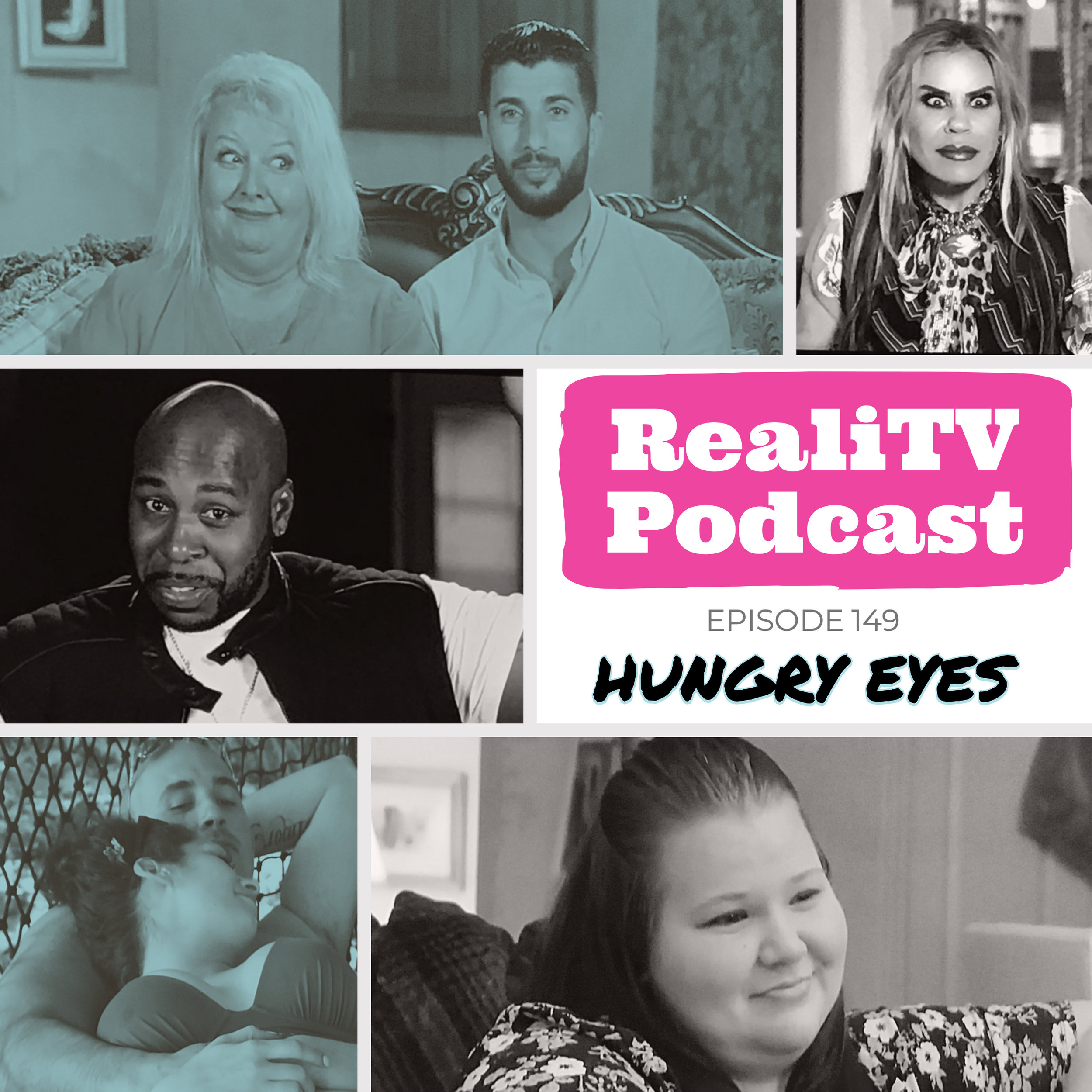 Episode 149: Hungry Eyes 07.18.19 - Give me 5…shows that is! Oh yes, I'm bringing you the best & worst moments from this week's craziest shows. First up, 90 Day Fiance Happily Ever After starring a deceased Coltee. With his hungry eyes for Debbie, he brought us perhaps the creepiest ending to a Dateline episode ever.Married at First Sight cannot get enough of the Seinfelds marital bedroom activities. Too bad Deona hasn't gotten the memo that she, too, is on the show.Marrying Millions debuted our newest shit shows to watch implode, namely Billy Wonka. Strange that his millions can't buy him teeth that don't match traffic cones. Over on Love After Lockup, Michael wears Trump's old toupee as a hood and Kendall remembers to lock up his briskets.The show is never complete without 90 Day Fiance The Other Way. Sumit will be Jenny's hero & chase away her pain. He will stand by her forever, or until Cory makes him disappear with his black magic. You'll get jiggy no matter what, trust me.Save 20% at www.ShopKino.com using code REALITV at checkout.Try Simple Health for FREE! www.simplehealth.com/REALITV and enter REALITV at checkout.