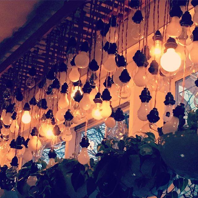 Work Atmosphere . . . . #cafe #lightbulbs