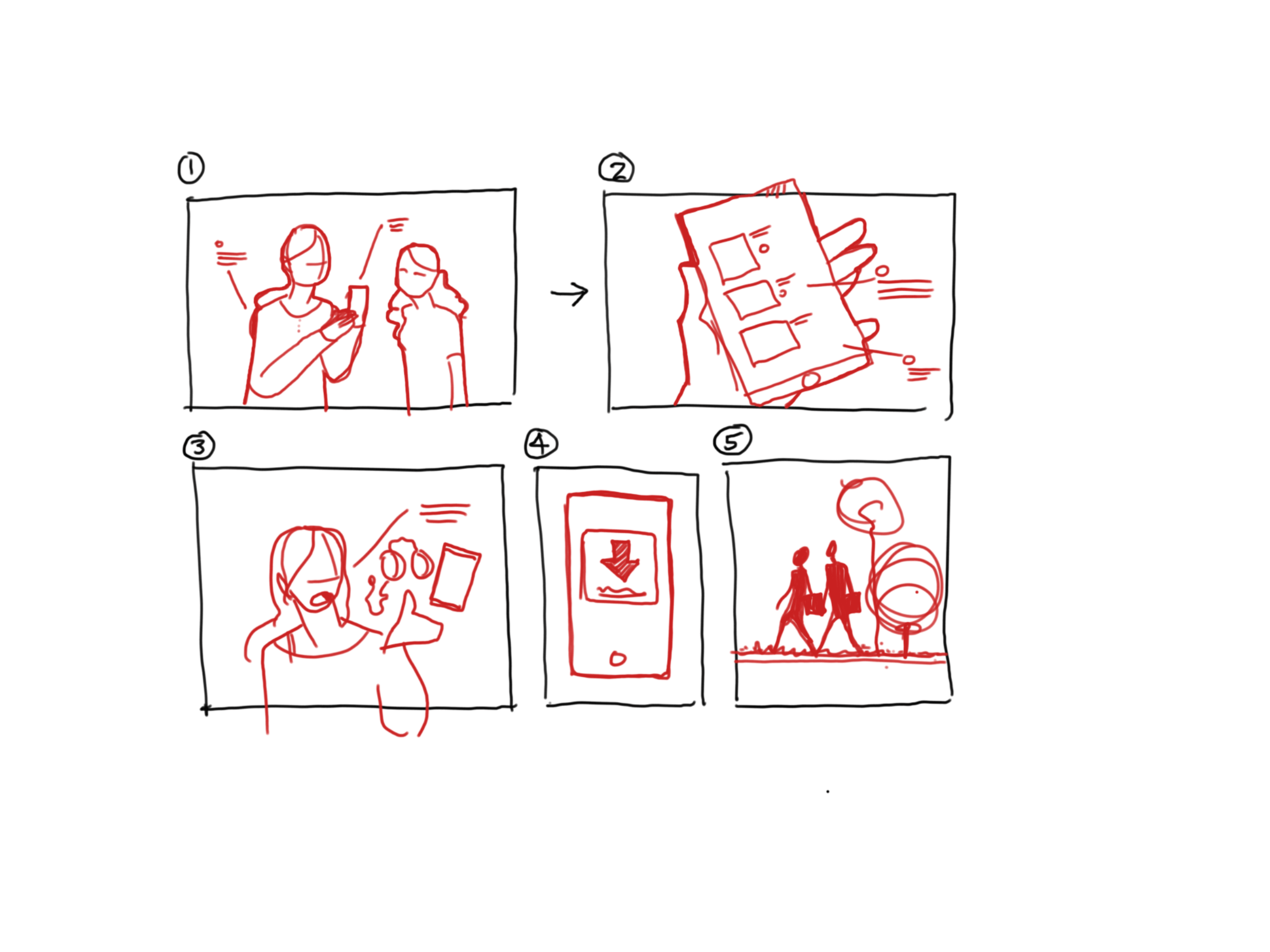 ...and storyboards of how life could be improved.