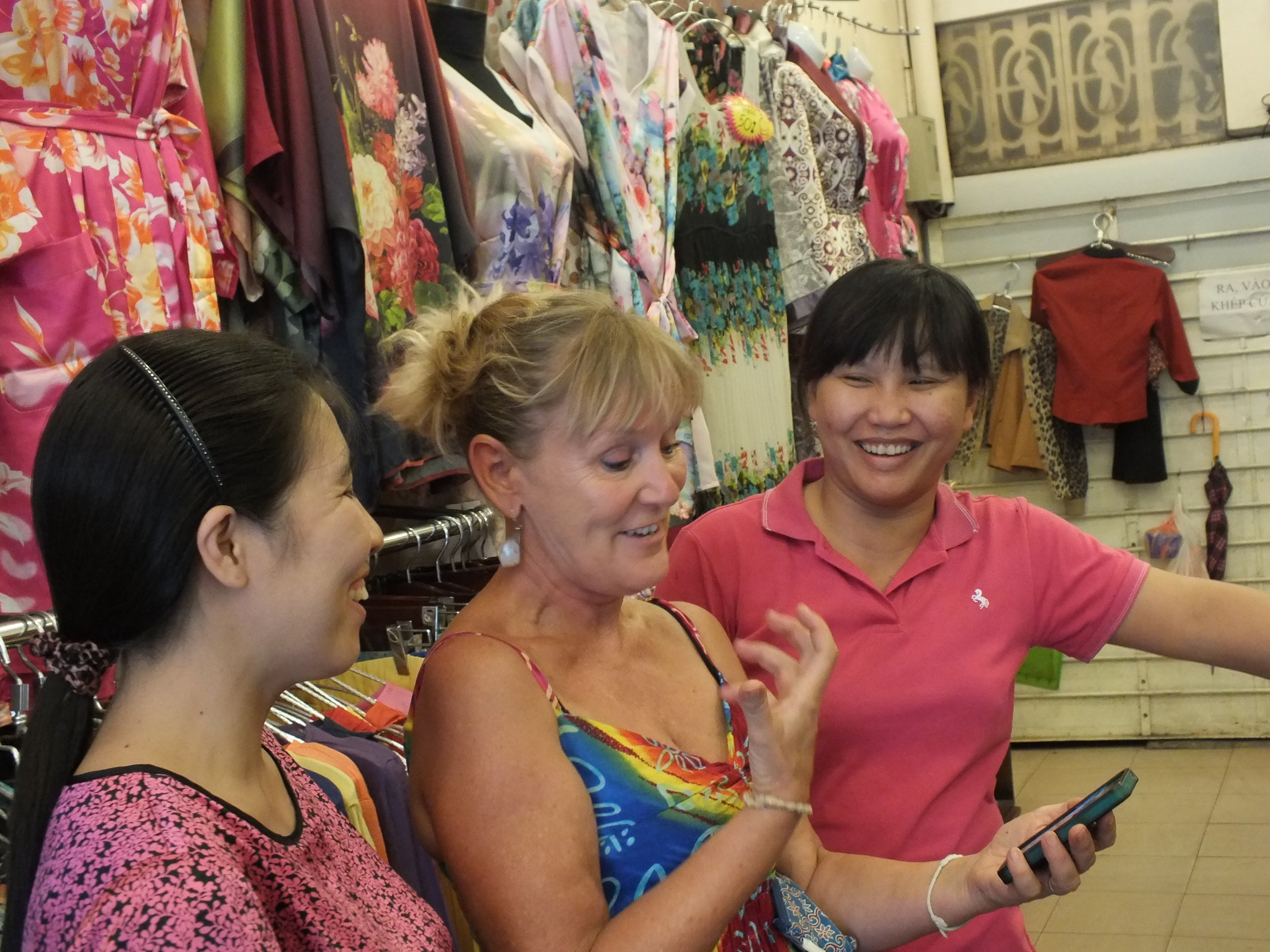 Interview in a Hanoi shop