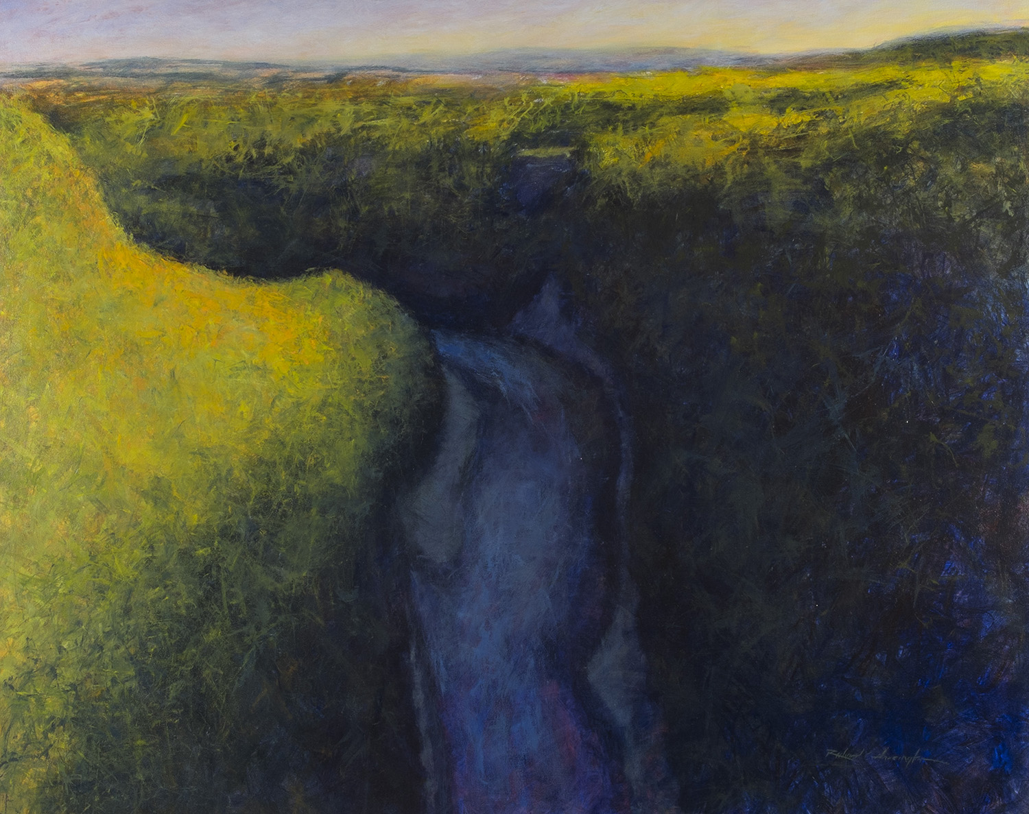 Genesee River at Letchworth, 48 x 60 inches, oil on canvas. Available through the artist.
