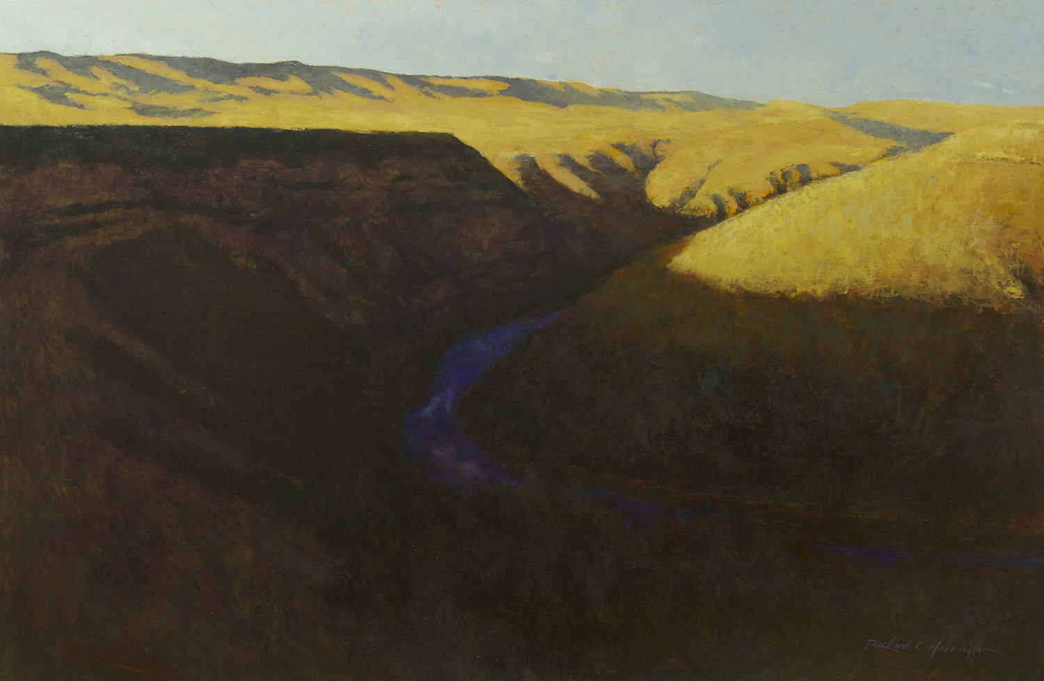 Deschutes in Shadow, 34 x 50 inches, oil on canvas. Available through the artist.