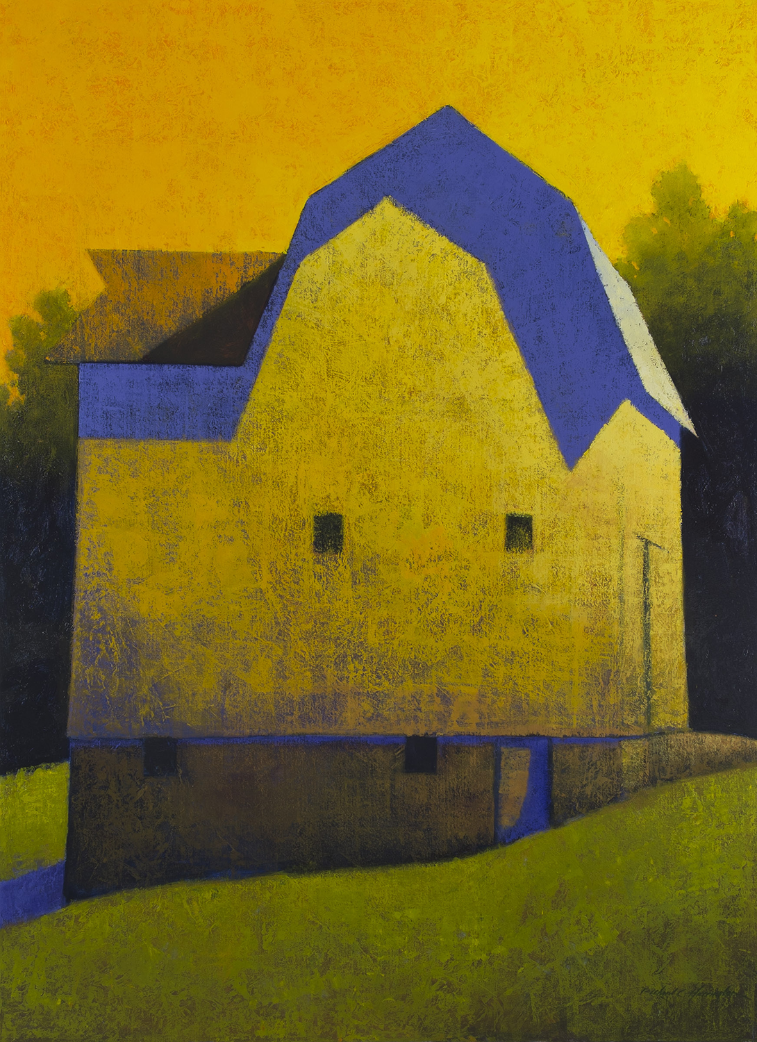 Evensong, oil on canvas, 60 x 48 inches. Private collection.