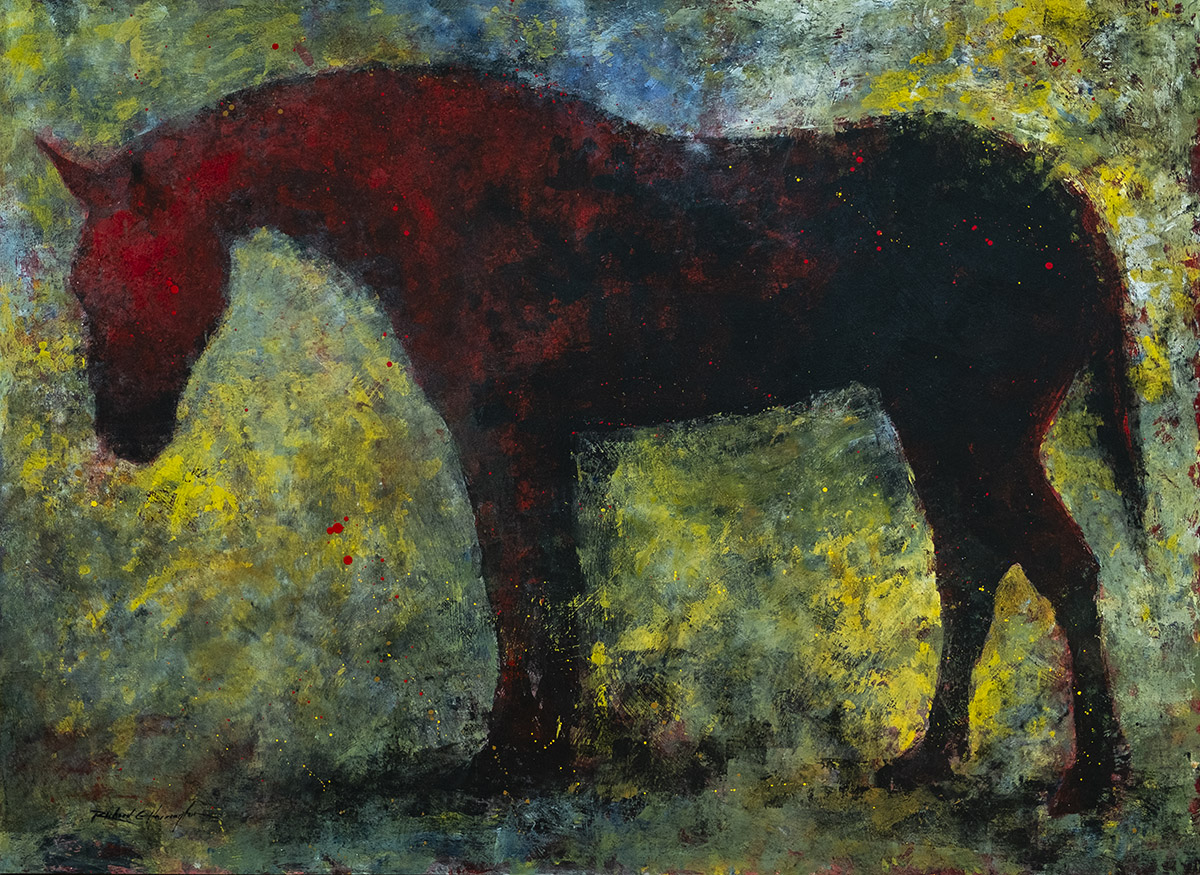 Red Horse, 48 x 66, acrylic on panel. Available through artist.