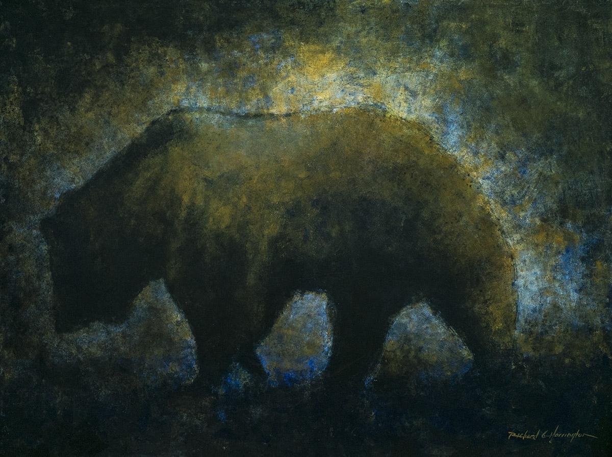 Grizzly at Dusk, 36 x 48, acrylic on panel. Available through artist.